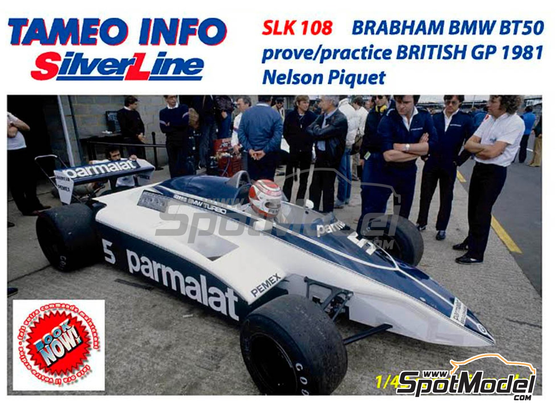 Image 1: Brabham BMW BT50 Parmalat - British Formula 1 Grand Prix 1981 | Model car kit in 1/43 scale manufactured by Tameo Kits (ref. SLK108)