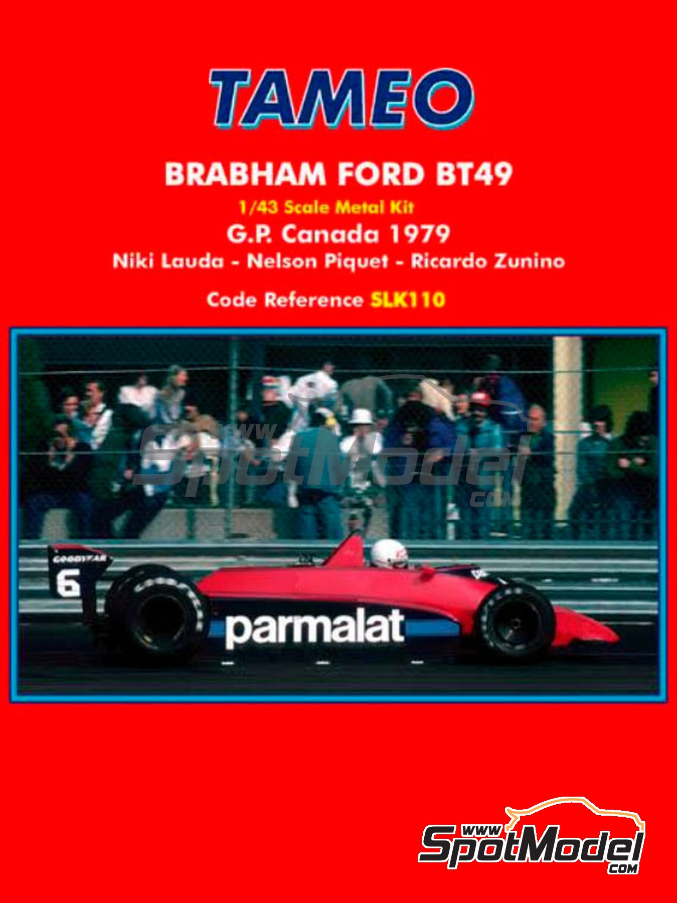 Brabham Ford BT49 Parmalat - Canadian Grand Prix 1979 | Model car kit in 1/43 scale manufactured by Tameo Kits (ref. SLK110) image