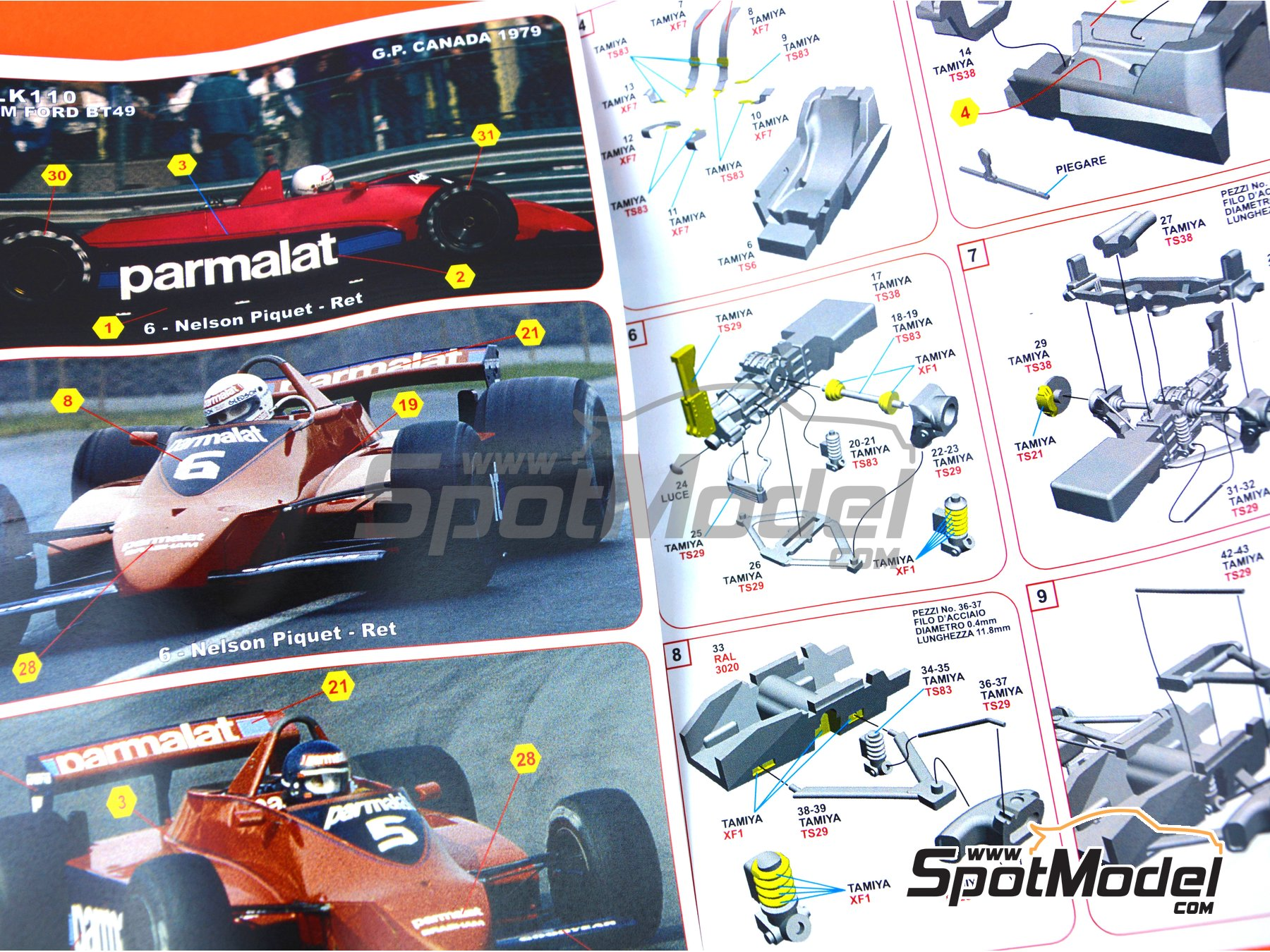 Image 7: Brabham Ford BT49 Parmalat - Canadian Grand Prix 1979 | Model car kit in 1/43 scale manufactured by Tameo Kits (ref. SLK110)