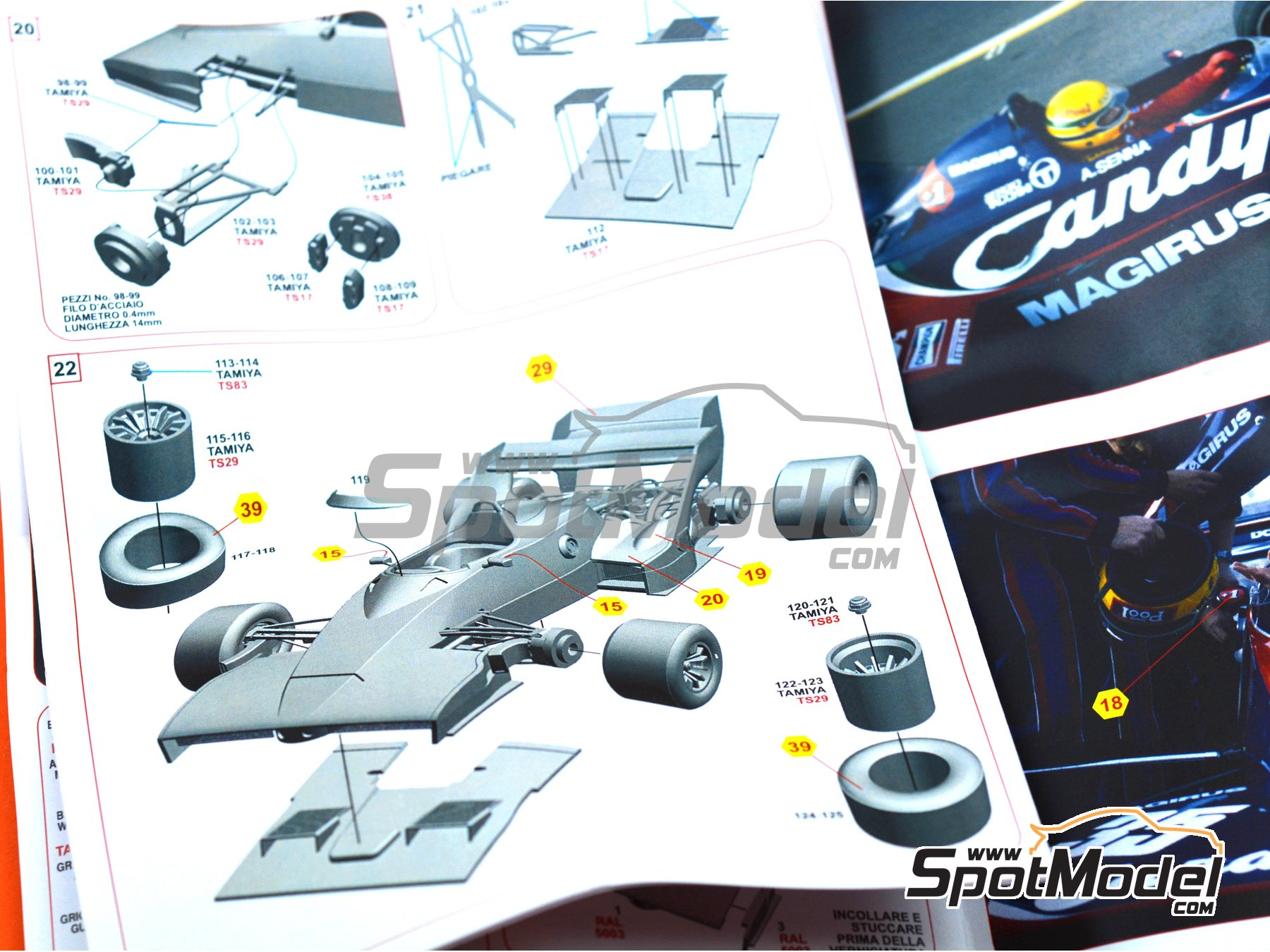 Image 2: Toleman Hart TG183B Candy Magirus - Test Silverstone 1983 | Model car kit in 1/43 scale manufactured by Tameo Kits (ref.SLK113)