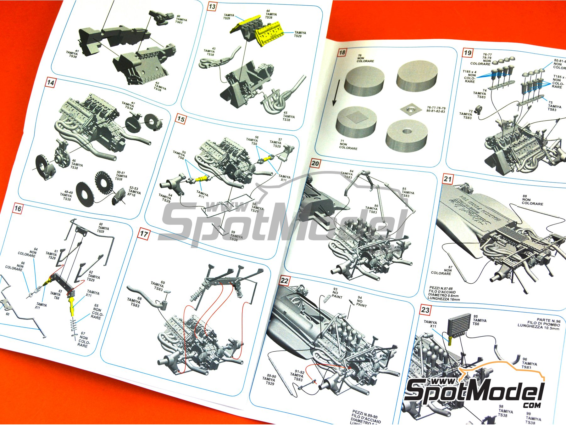 Image 12: March Ford 701 STP - French Formula 1 Grand Prix 1970 | Model car kit in 1/43 scale manufactured by Tameo Kits (ref. SLK114)