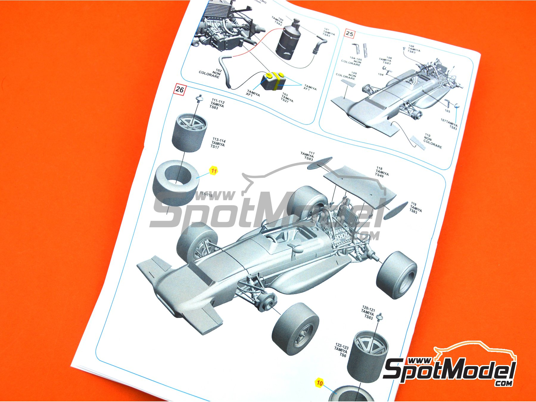 Image 13: March Ford 701 STP - French Formula 1 Grand Prix 1970 | Model car kit in 1/43 scale manufactured by Tameo Kits (ref. SLK114)