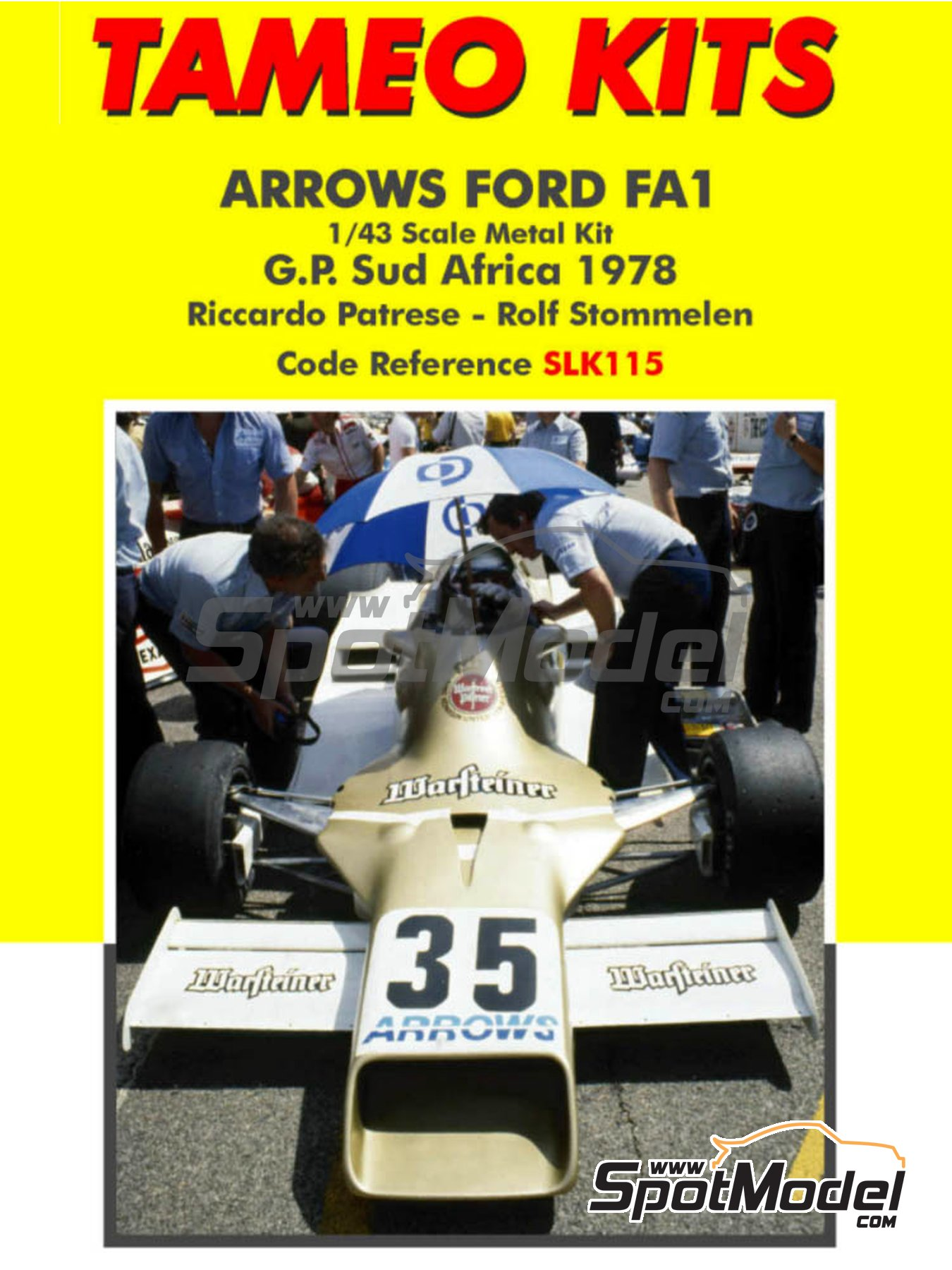 Arrows Ford FA1 Warsteiner - South African Grand Prix 1978 | Model car kit in 1/43 scale manufactured by Tameo Kits (ref. SLK115) image