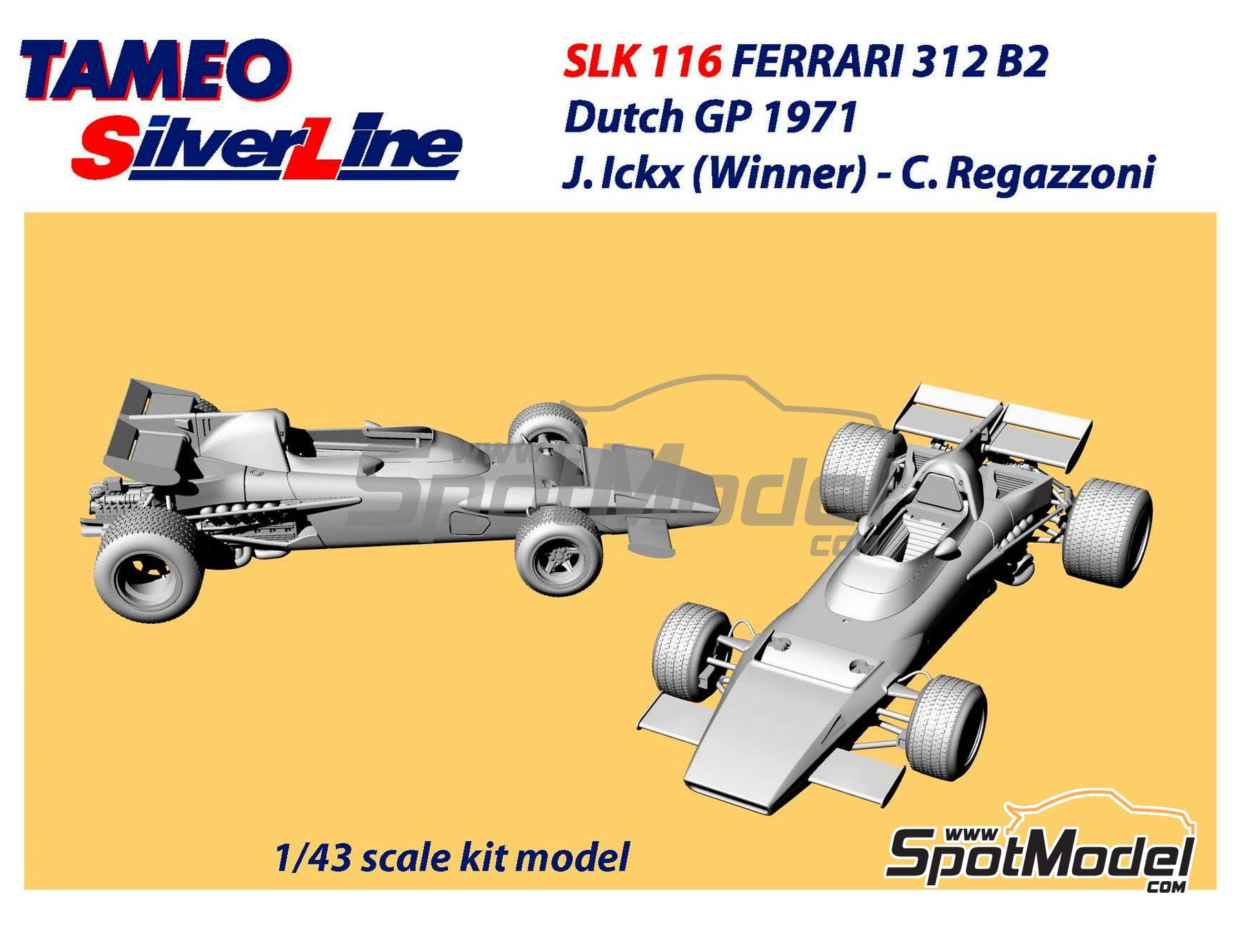 Image 1: Ferrari 312B2 - Dutch Formula 1 Grand Prix 1971 | Model car kit in 1/43 scale manufactured by Tameo Kits (ref. SLK116)