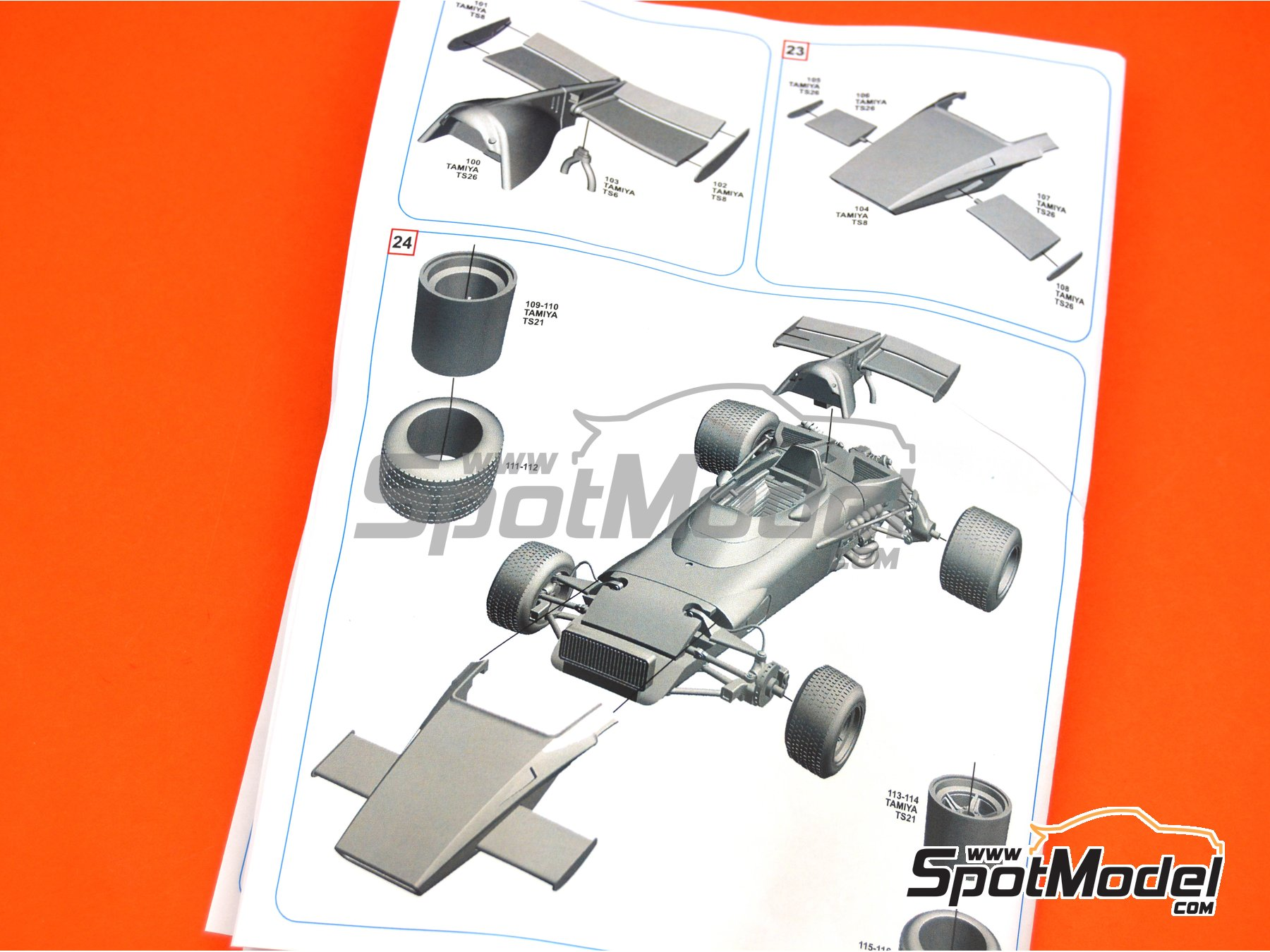 Image 5: Ferrari 312B2 - Dutch Formula 1 Grand Prix 1971 | Model car kit in 1/43 scale manufactured by Tameo Kits (ref. SLK116)