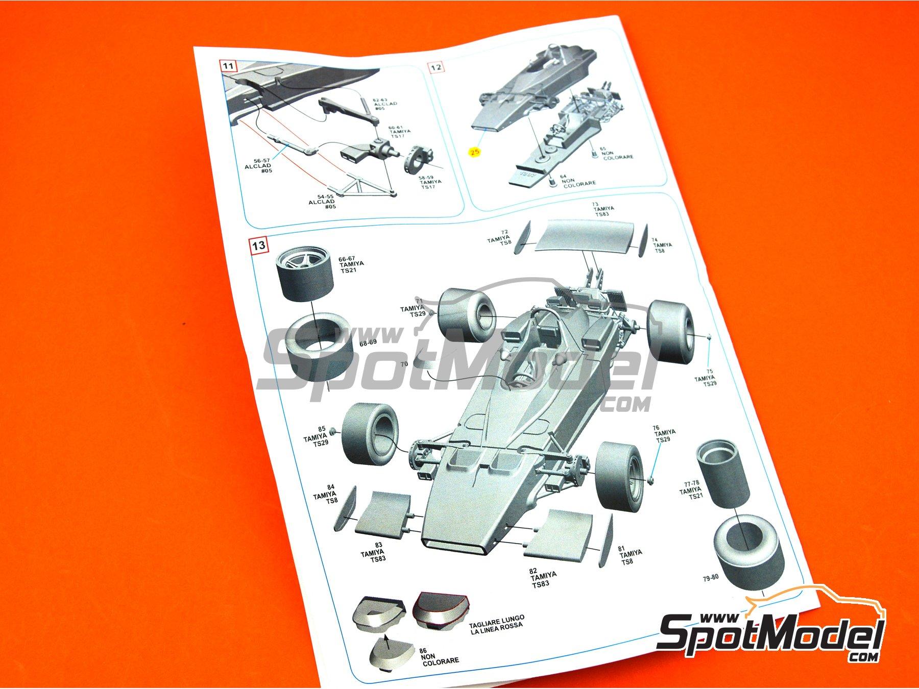 Image 9: Ferrari 312B3 Shell - Gran Premio de Formula 1 de Mónaco 1973 | Maqueta de coche en escala1/43 fabricado por Tameo Kits (ref.SLK117)