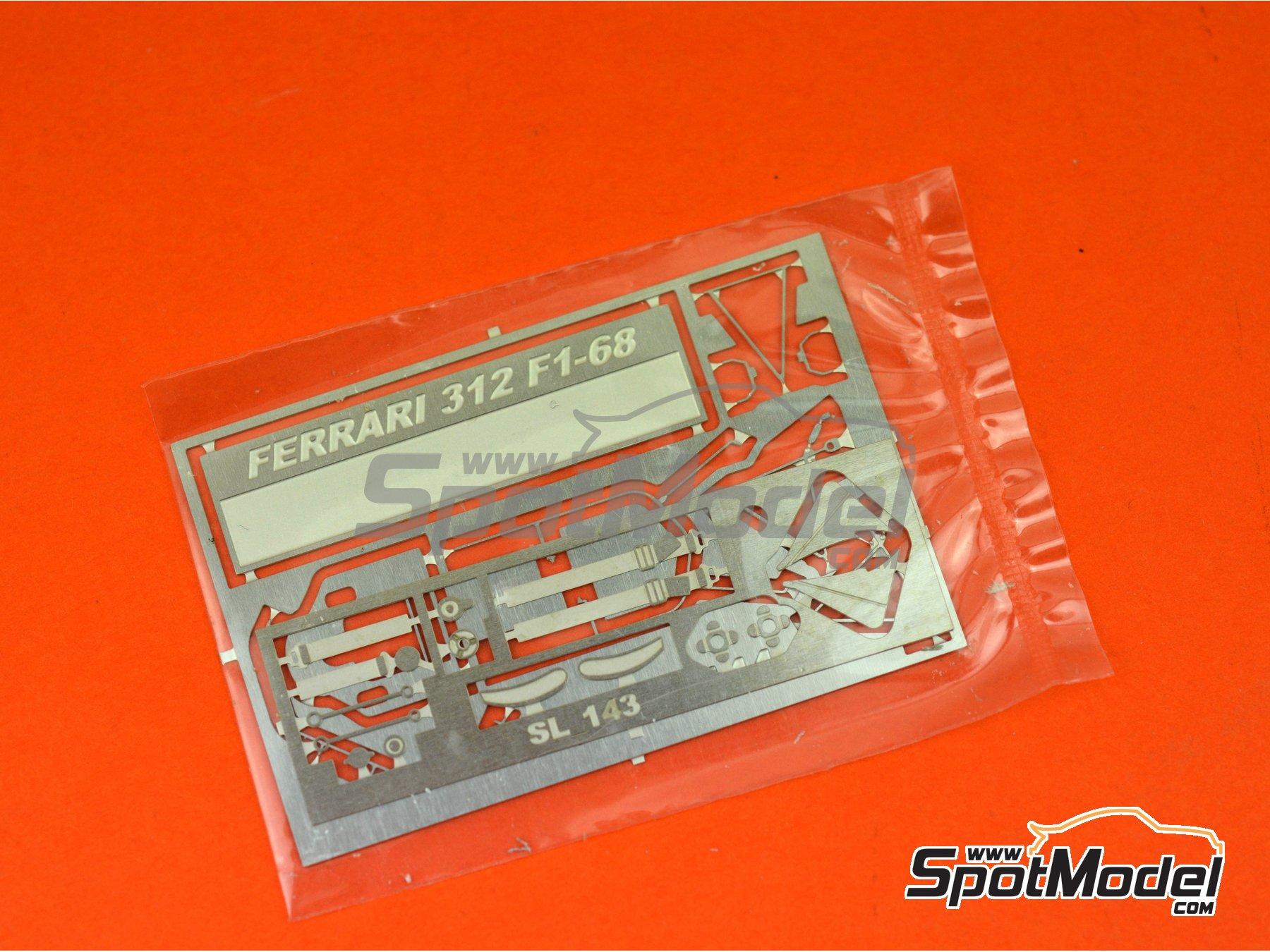 Image 8: Ferrari 312 F1 - British Grand Prix 1968 | Model car kit in 1/43 scale manufactured by Tameo Kits (ref.SLK118)