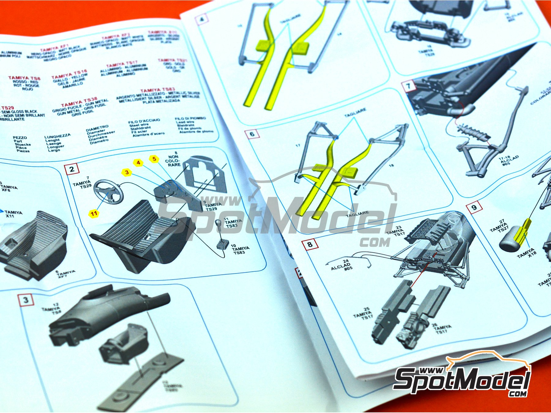 Image 10: Ferrari 312 F1 - British Grand Prix 1968 | Model car kit in 1/43 scale manufactured by Tameo Kits (ref.SLK118)
