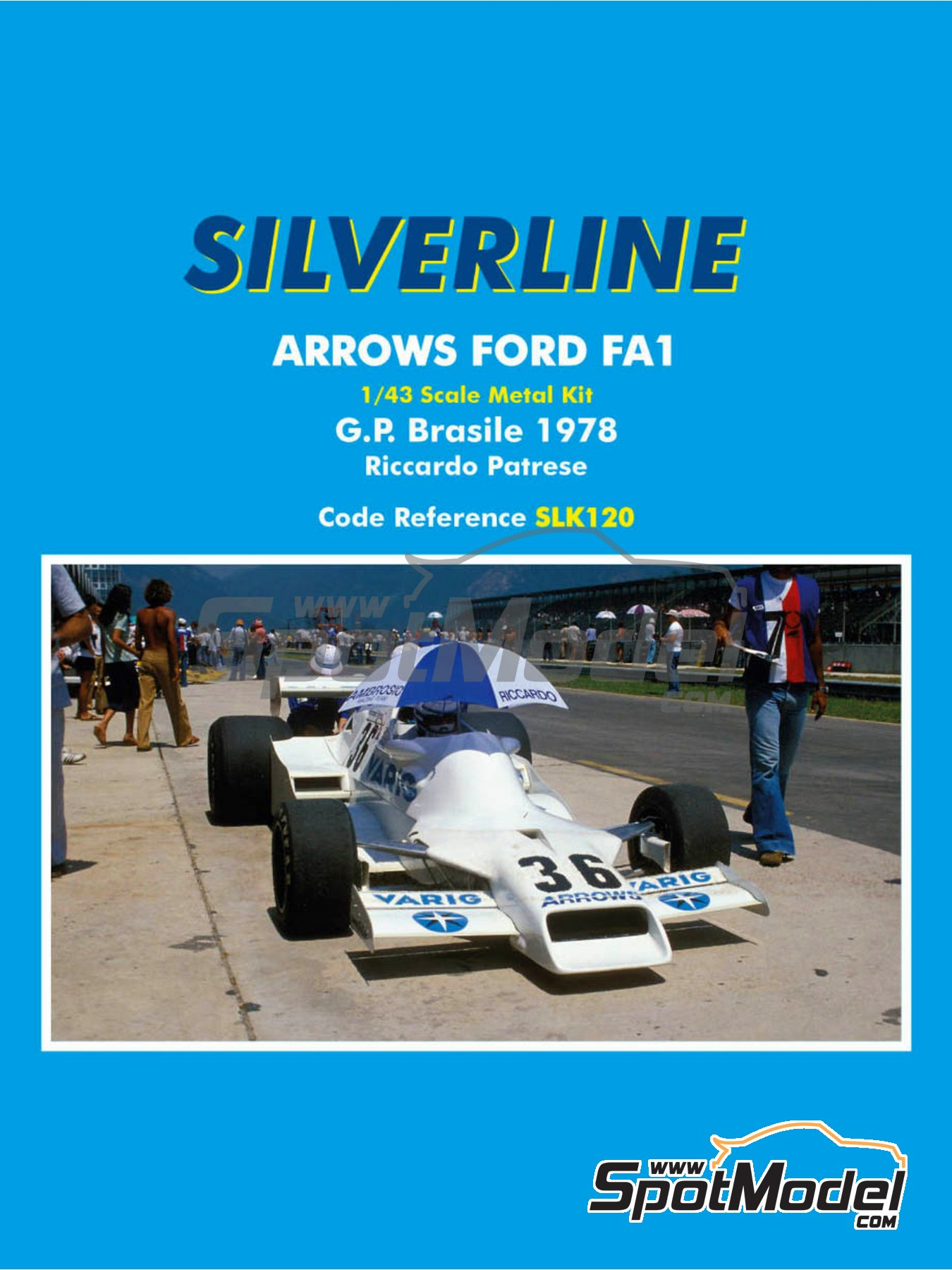 Arrows Ford FA1 Varig - Brazilian Formula 1 Grand Prix 1978 | Model car kit in 1/43 scale manufactured by Tameo Kits (ref.SLK120) image
