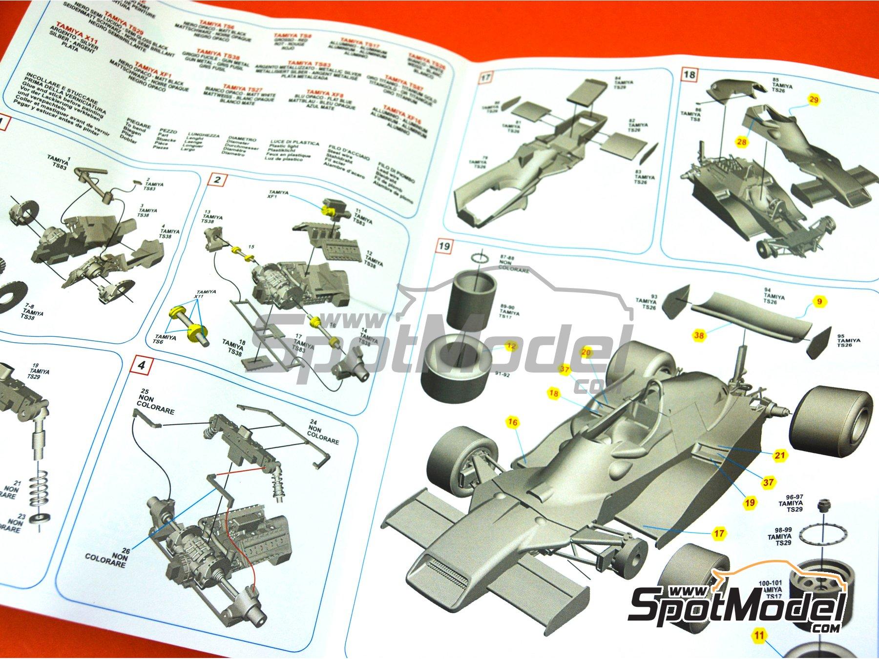 Image 4: Arrows Ford FA1 Varig - Brazilian Formula 1 Grand Prix 1978 | Model car kit in 1/43 scale manufactured by Tameo Kits (ref.SLK120)