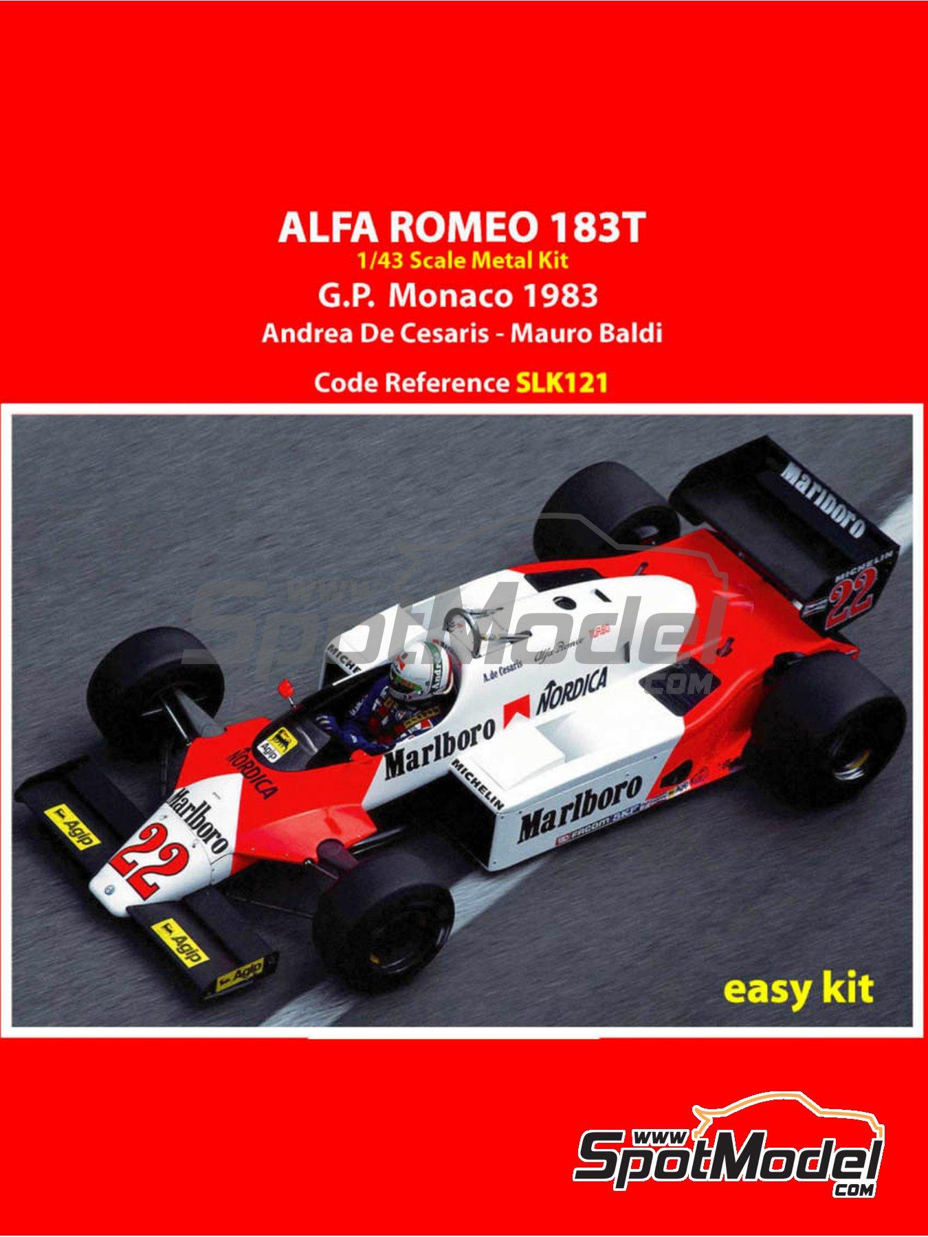 Alfa Romeo 183T Marlboro - Monaco Formula 1 Grand Prix 1983 | Model car kit in 1/43 scale manufactured by Tameo Kits (ref.SLK121) image