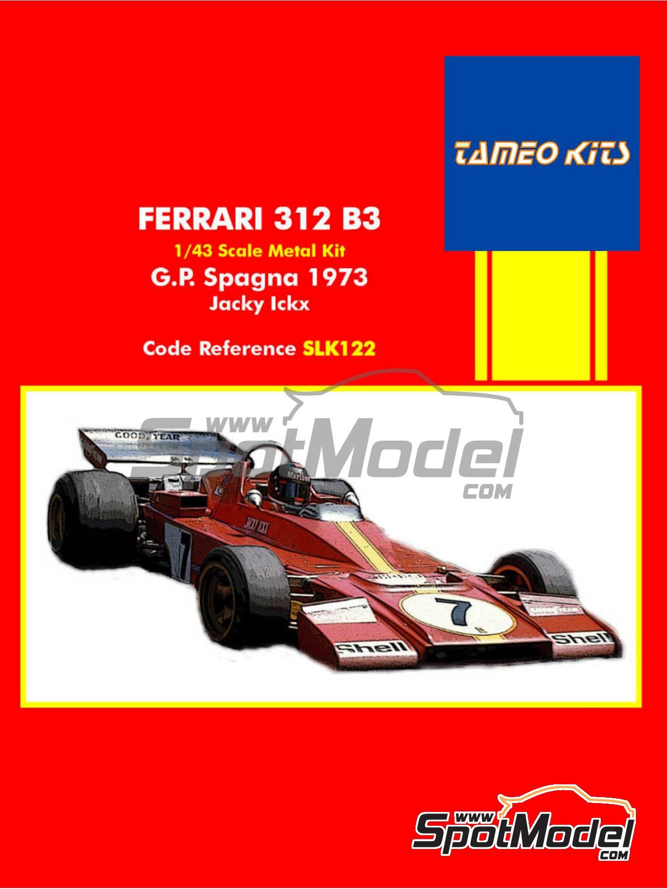 Ferrari 312 B3 Shell -  1973   Model car kit in 1/43 scale manufactured by Tameo Kits (ref.SLK122) image
