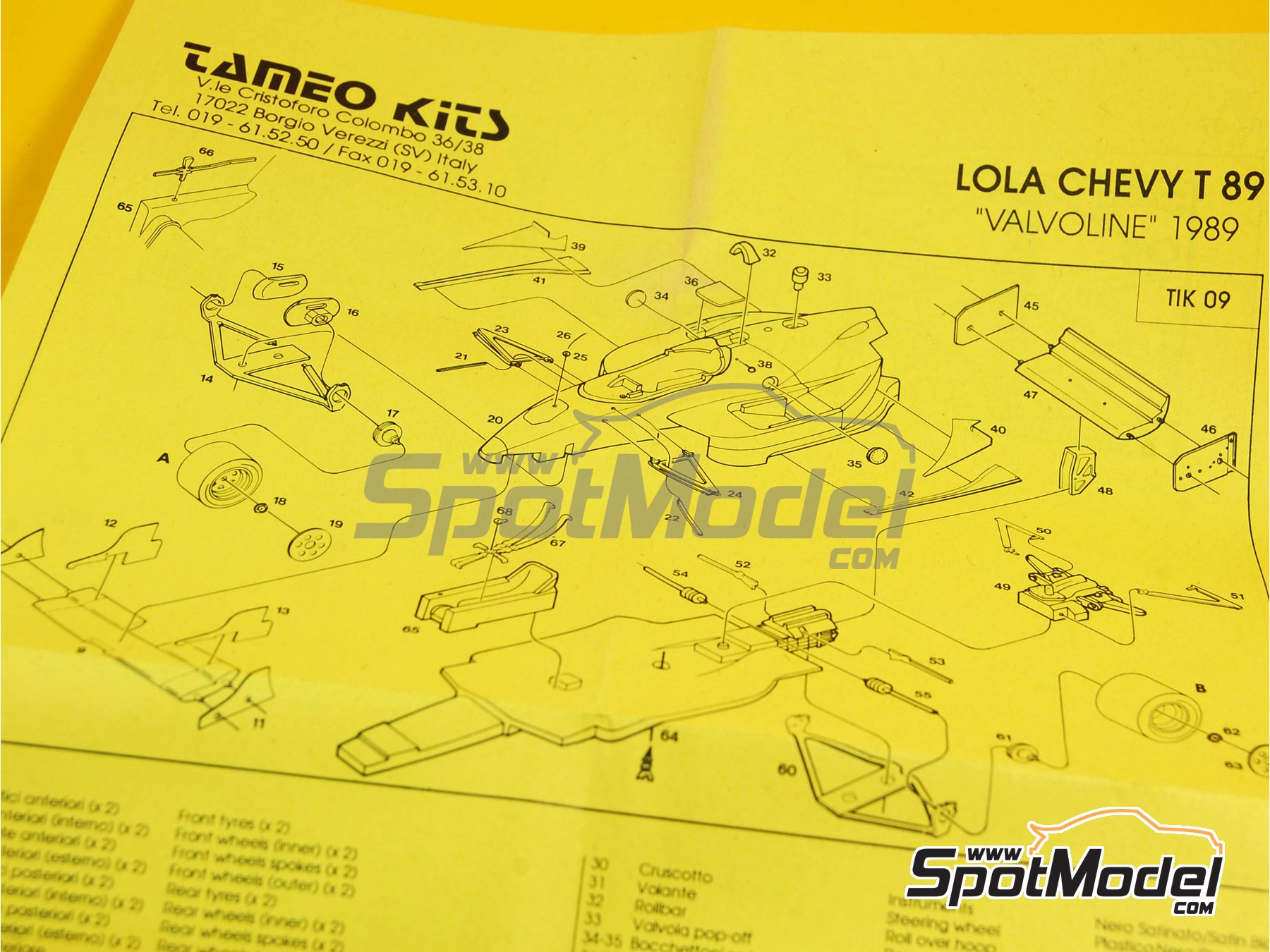 Image 3: Lola Chevy T89 Valvoline - Indy 1989 | Model car kit in 1/43 scale manufactured by Tameo Kits (ref.TIK009)