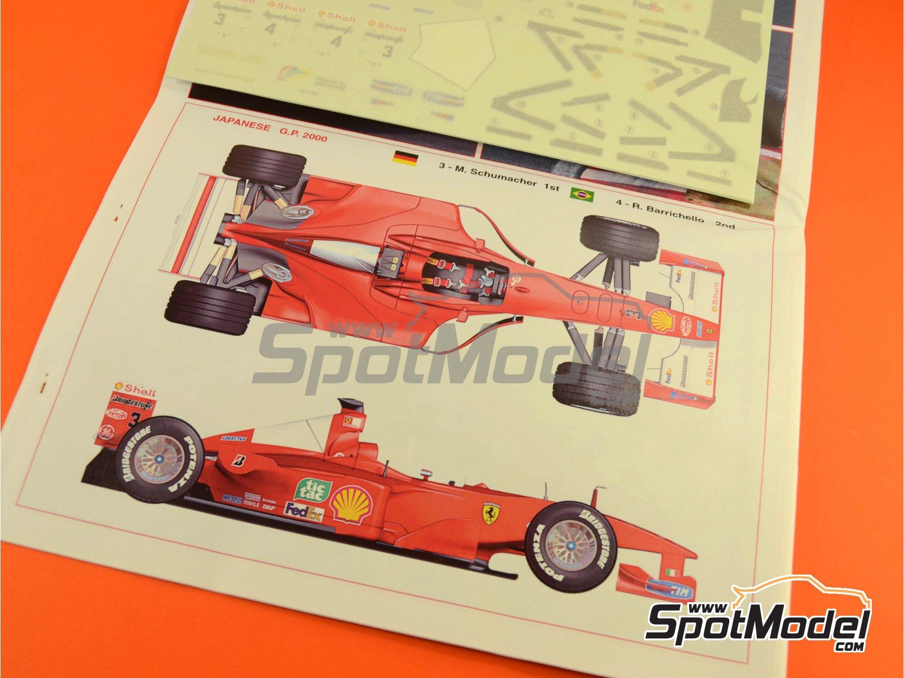 Image 6: Ferrari F1 2000 Marlboro - Japanese Formula 1 Grand Prix 2000 | Model car kit in 1/24 scale manufactured by Tameo Kits (ref.TLK001)