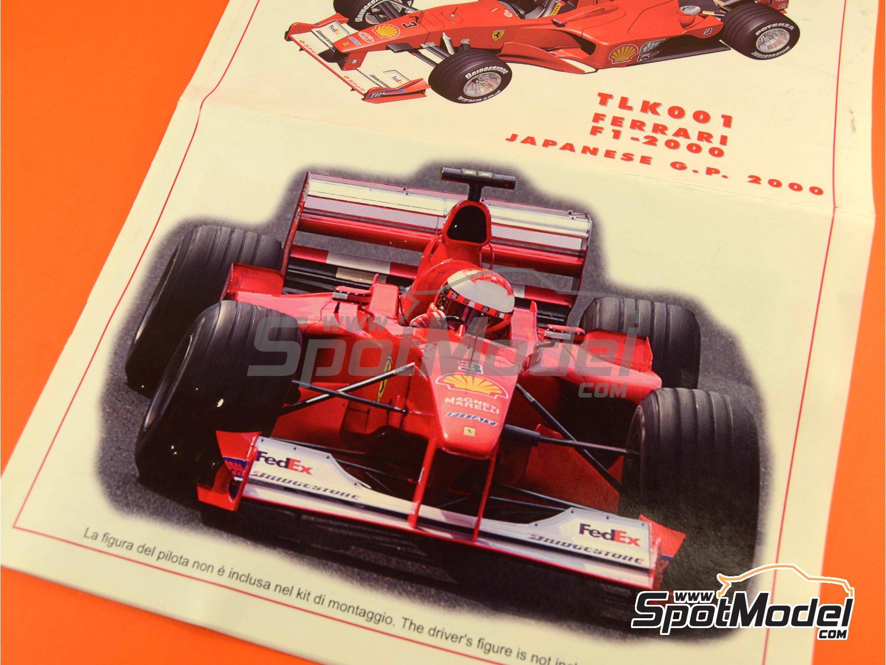 Image 15: Ferrari F1 2000 Marlboro - Japanese Formula 1 Grand Prix 2000 | Model car kit in 1/24 scale manufactured by Tameo Kits (ref.TLK001)