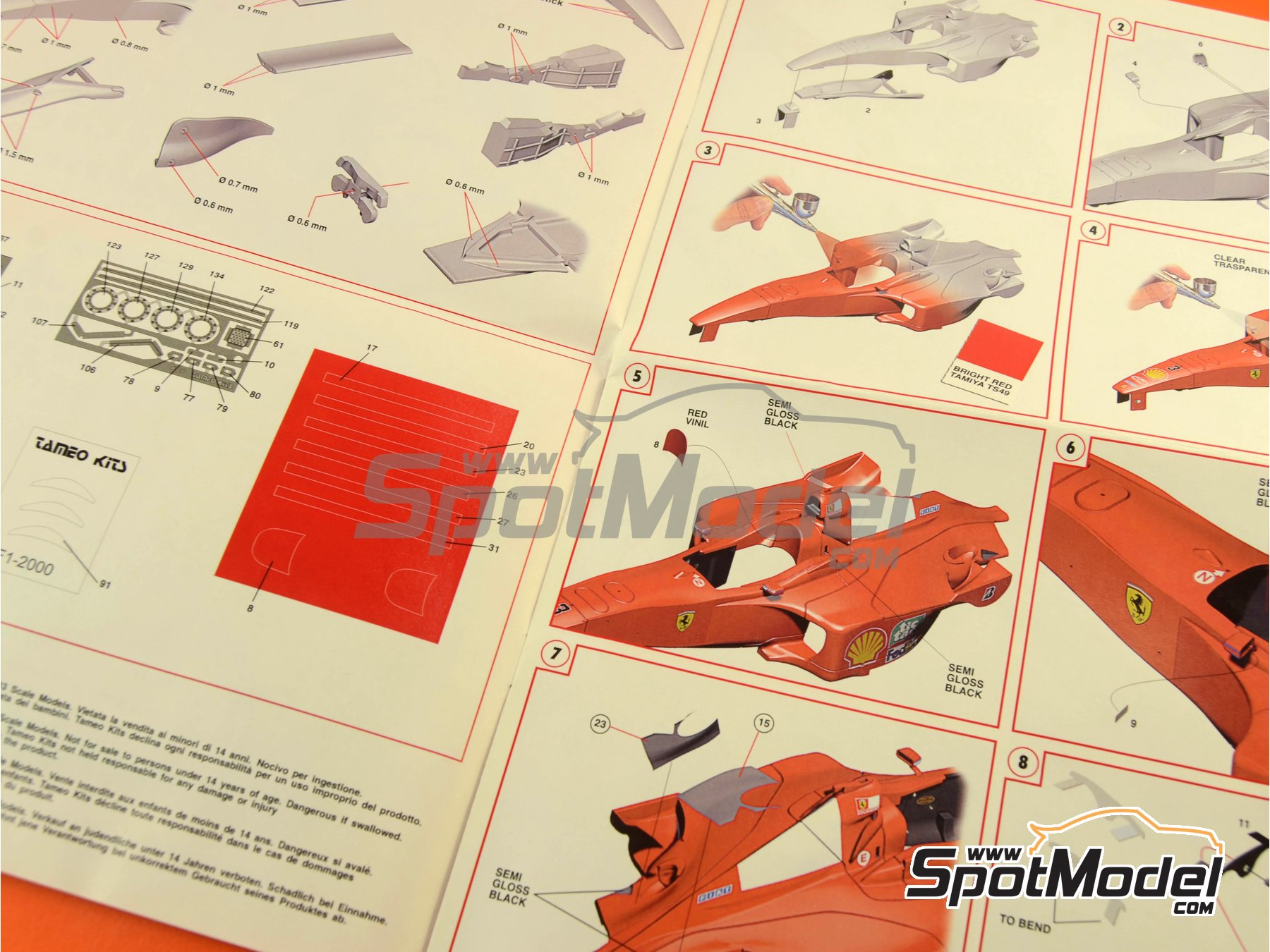 Image 16: Ferrari F1 2000 Marlboro - Japanese Formula 1 Grand Prix 2000 | Model car kit in 1/24 scale manufactured by Tameo Kits (ref.TLK001)