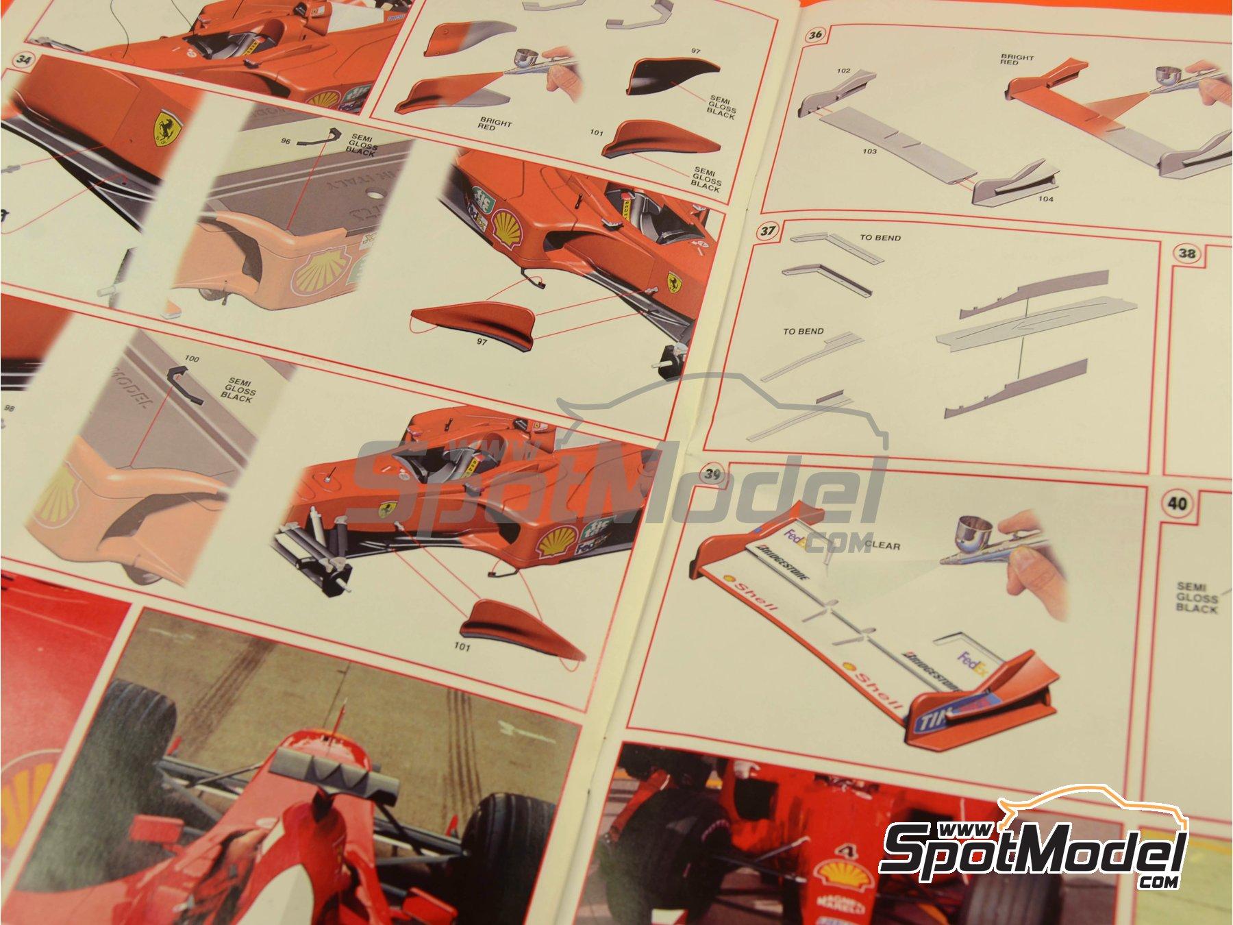 Image 19: Ferrari F1 2000 Marlboro - Japanese Formula 1 Grand Prix 2000 | Model car kit in 1/24 scale manufactured by Tameo Kits (ref.TLK001)