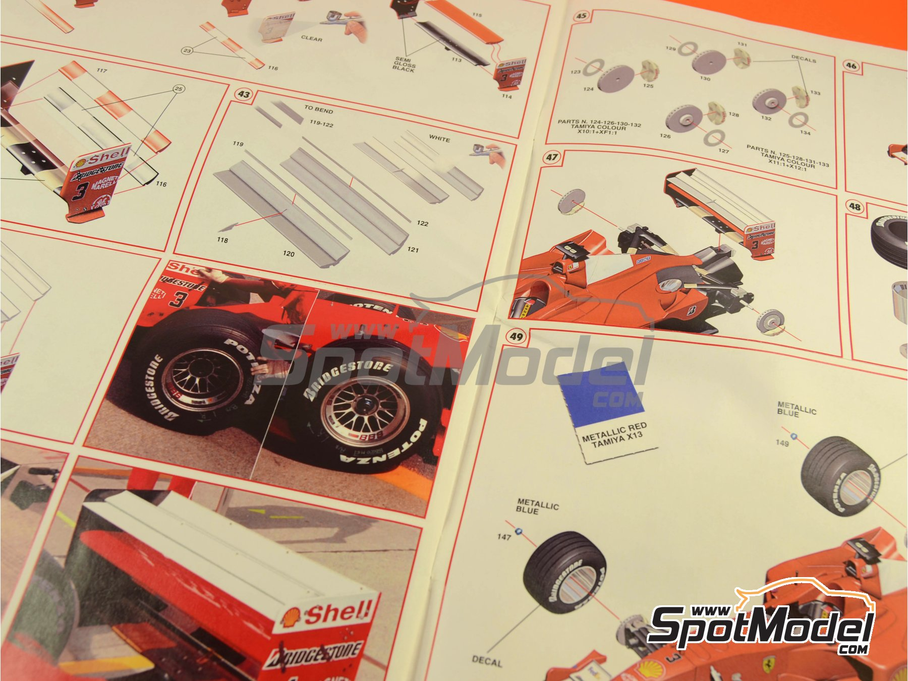 Image 20: Ferrari F1 2000 Marlboro - Japanese Formula 1 Grand Prix 2000 | Model car kit in 1/24 scale manufactured by Tameo Kits (ref.TLK001)