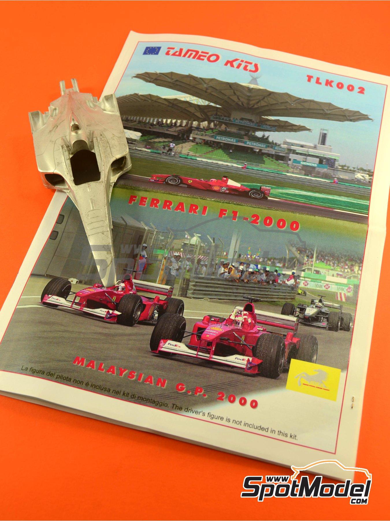 Ferrari F1 2000 Marlboro - Gran Premio de Fórmula 1 de Malasia 2000 | Maqueta de coche en escala1/24 fabricado por Tameo Kits (ref.TLK002) image