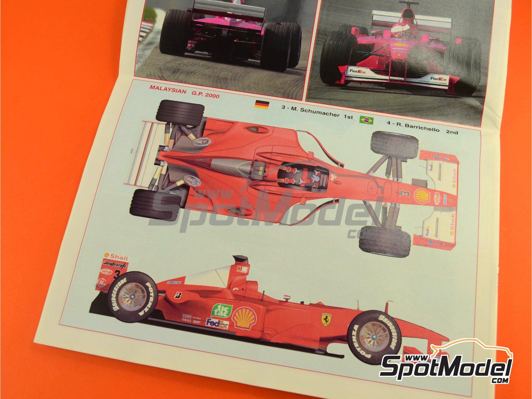 Image 18: Ferrari F1 2000 Marlboro - Gran Premio de Fórmula 1 de Malasia 2000 | Maqueta de coche en escala1/24 fabricado por Tameo Kits (ref.TLK002)