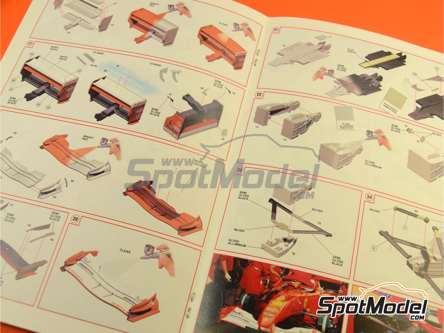 Image 13: Ferrari F2001 Marlboro - Monaco Formula 1 Grand Prix 2001 | Model car kit in 1/24 scale manufactured by Tameo Kits (ref. TLK003)