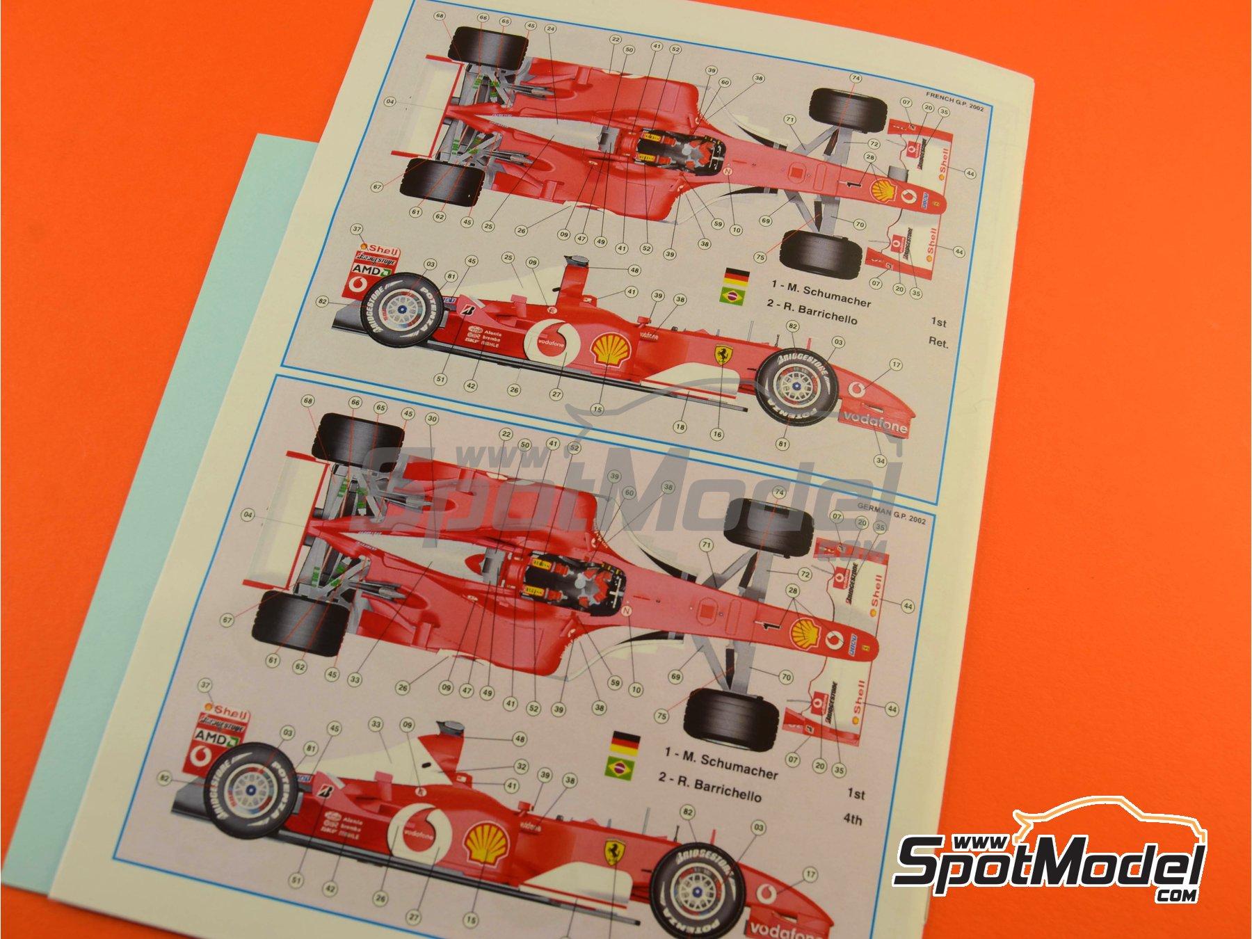 Image 7: Ferrari F2002 Marlboro - Gran Premio de Francia 2002 | Maqueta de coche en escala1/24 fabricado por Tameo Kits (ref.TLK004)