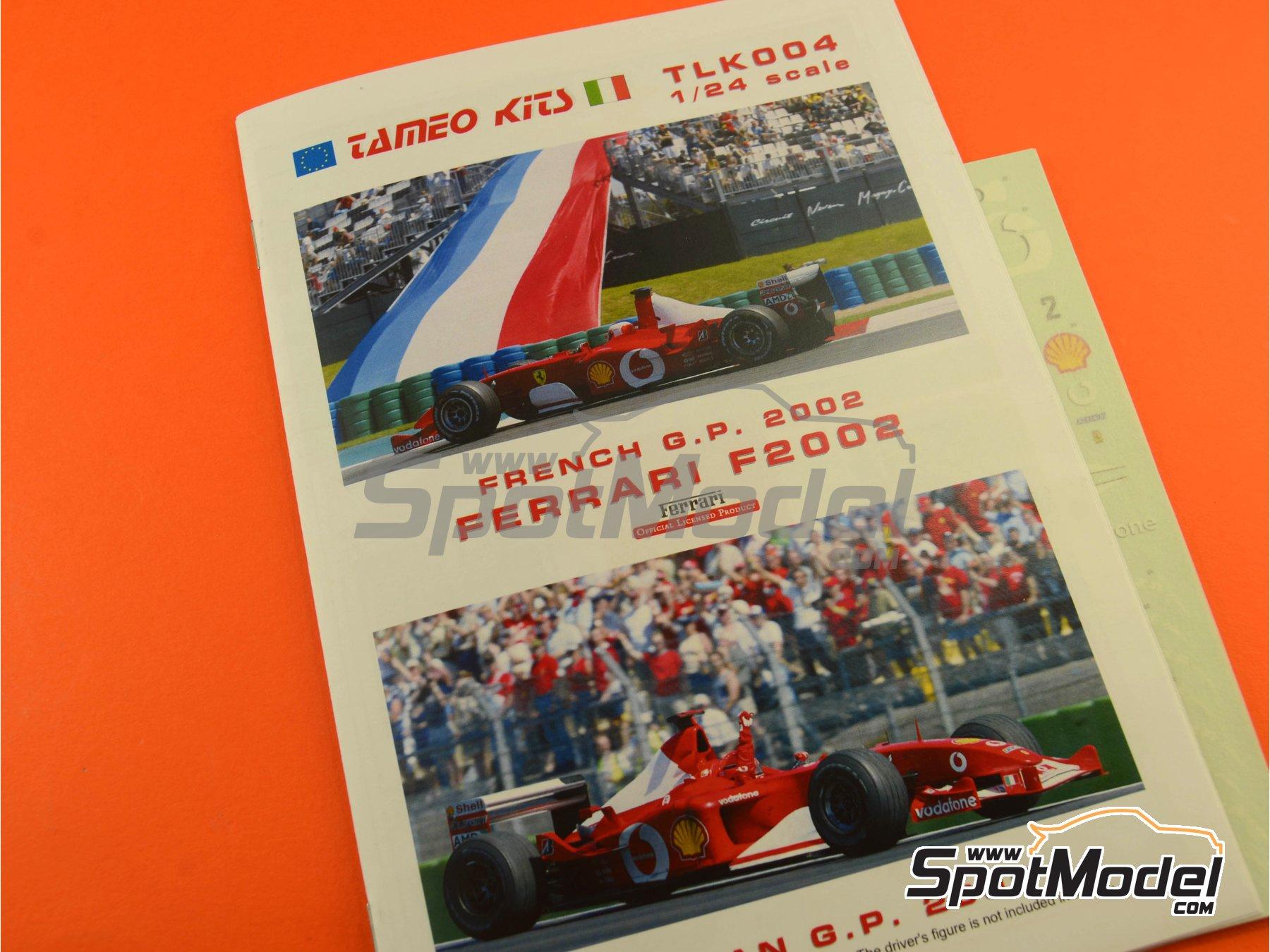Image 8: Ferrari F2002 Marlboro - Gran Premio de Francia 2002 | Maqueta de coche en escala1/24 fabricado por Tameo Kits (ref.TLK004)