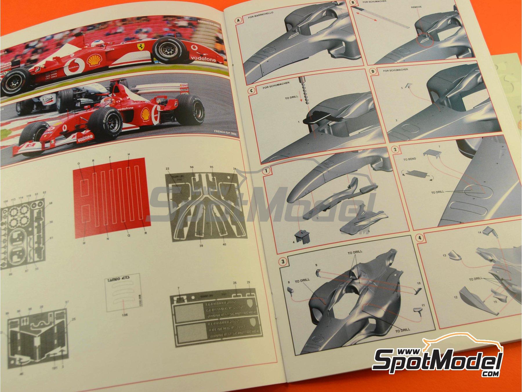 Image 9: Ferrari F2002 Marlboro - Gran Premio de Francia 2002 | Maqueta de coche en escala1/24 fabricado por Tameo Kits (ref.TLK004)