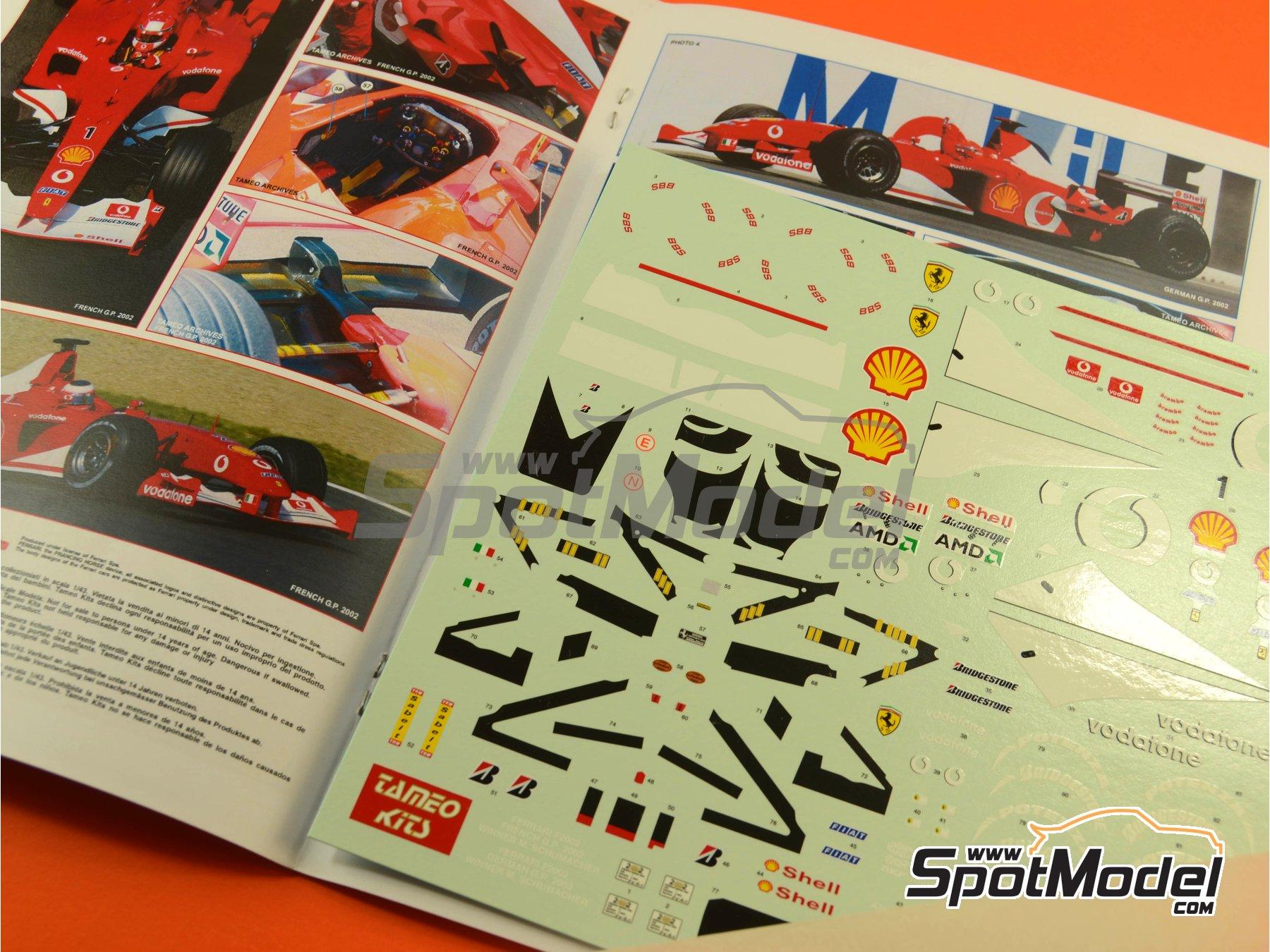 Image 11: Ferrari F2002 Marlboro - Gran Premio de Francia 2002 | Maqueta de coche en escala1/24 fabricado por Tameo Kits (ref.TLK004)