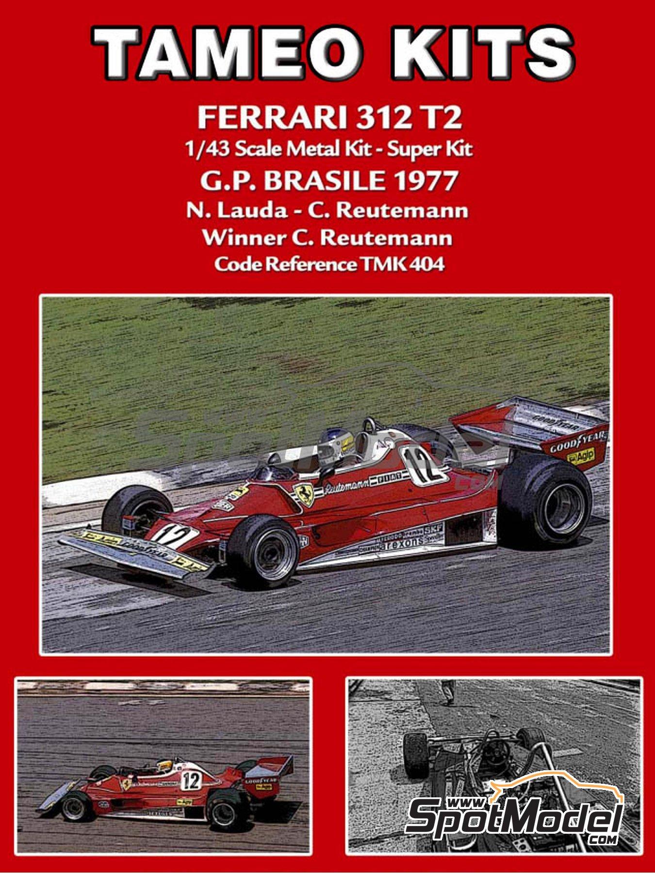 Ferrari 312T2 Fiat - Gran Premio de Fórmula 1 de Brasil 1977 | Maqueta de coche en escala1/43 fabricado por Tameo Kits (ref.TMK404) image