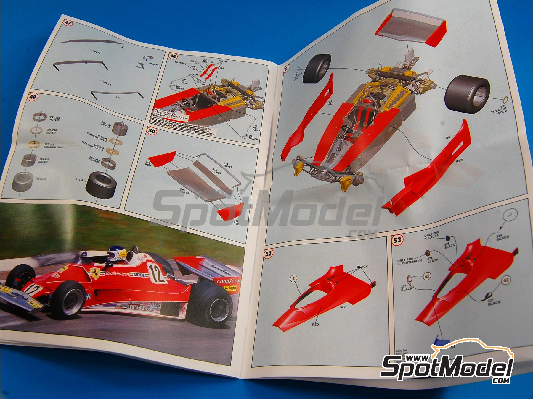 Image 10: Ferrari 312T2 Fiat - Gran Premio de Fórmula 1 de Brasil 1977 | Maqueta de coche en escala1/43 fabricado por Tameo Kits (ref.TMK404)