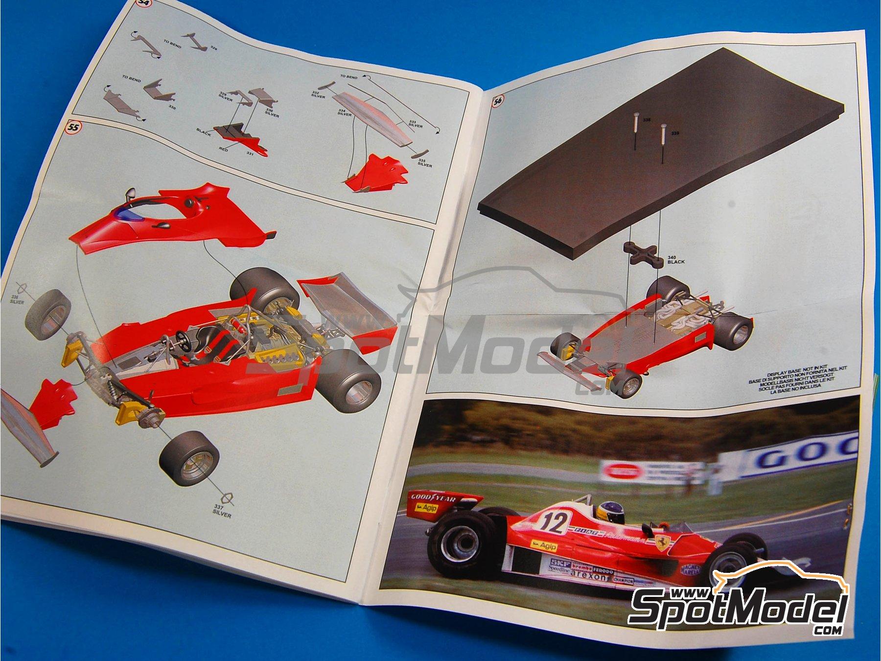 Image 11: Ferrari 312T2 Fiat - Gran Premio de Fórmula 1 de Brasil 1977 | Maqueta de coche en escala1/43 fabricado por Tameo Kits (ref.TMK404)