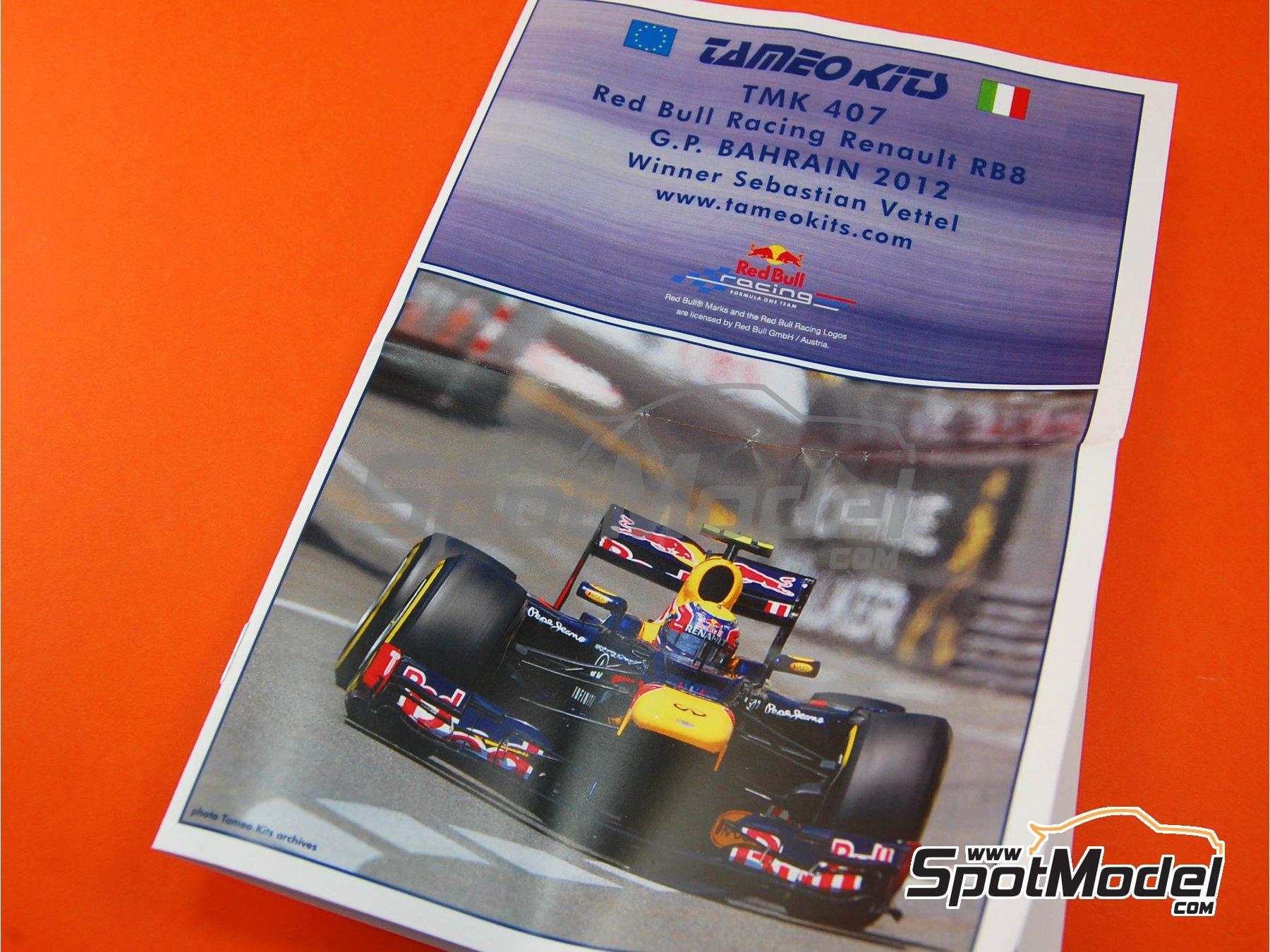 Image 2: RB Racing Renault RB8 - Gran Premio de Fórmula 1 de Bahrein 2012 | Maqueta de coche en escala1/43 fabricado por Tameo Kits (ref.TMK407)