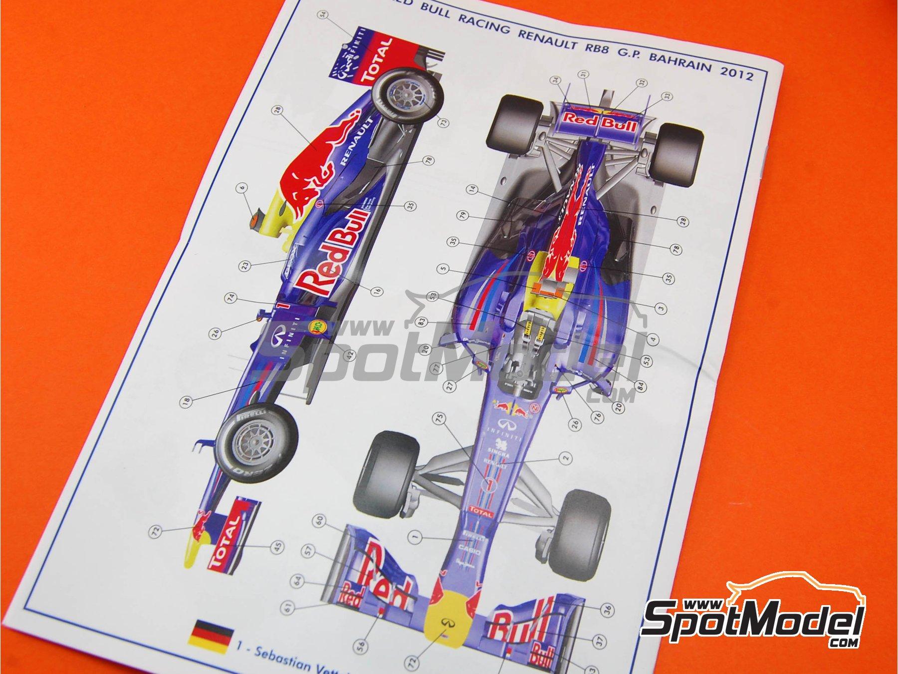 Image 6: RB Racing Renault RB8 - Gran Premio de Fórmula 1 de Bahrein 2012 | Maqueta de coche en escala1/43 fabricado por Tameo Kits (ref.TMK407)