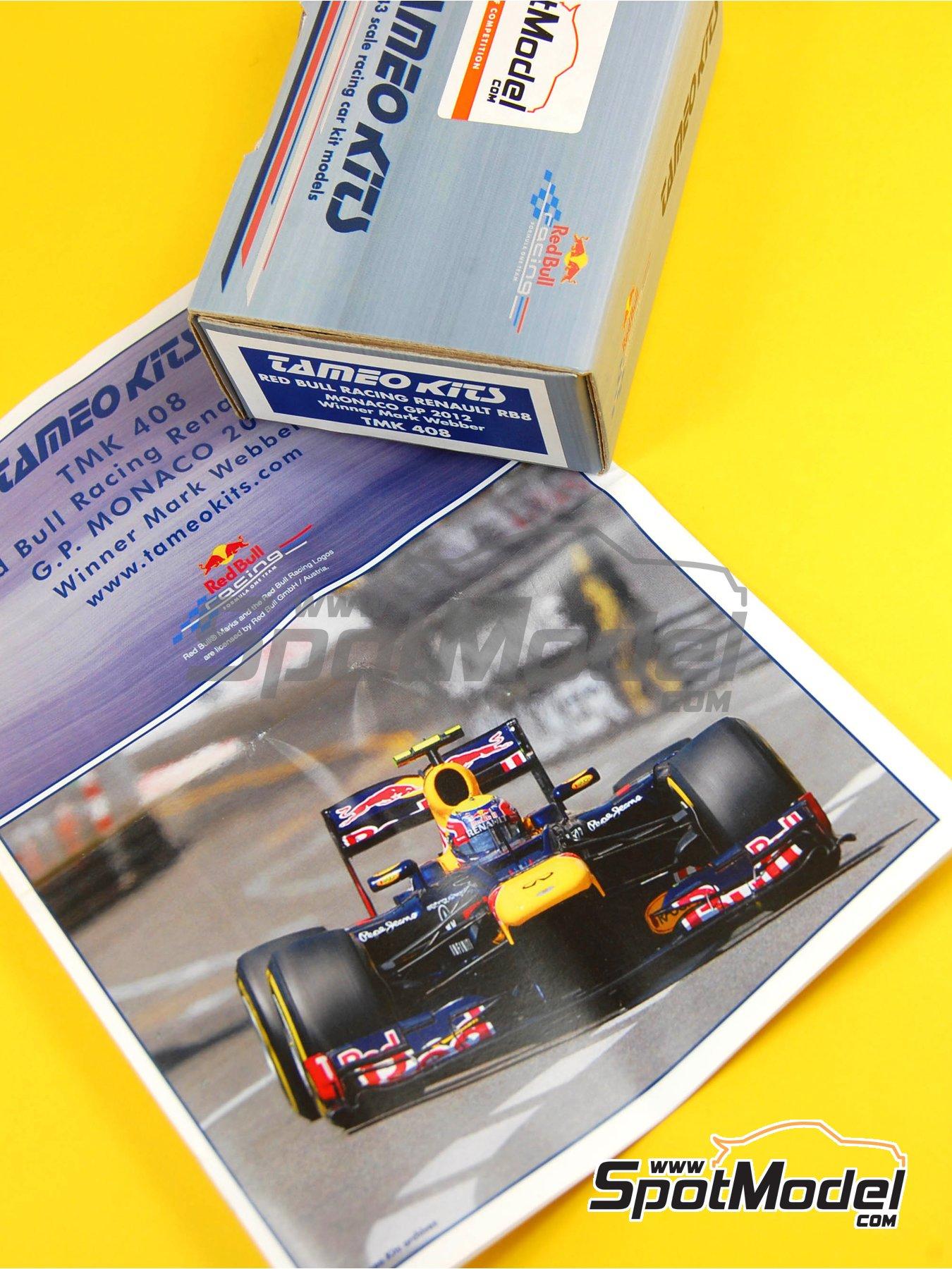 RB Racing Renault RB8 - Gran Premio de Formula 1 de Mónaco 2012   Maqueta de coche en escala1/43 fabricado por Tameo Kits (ref.TMK408) image