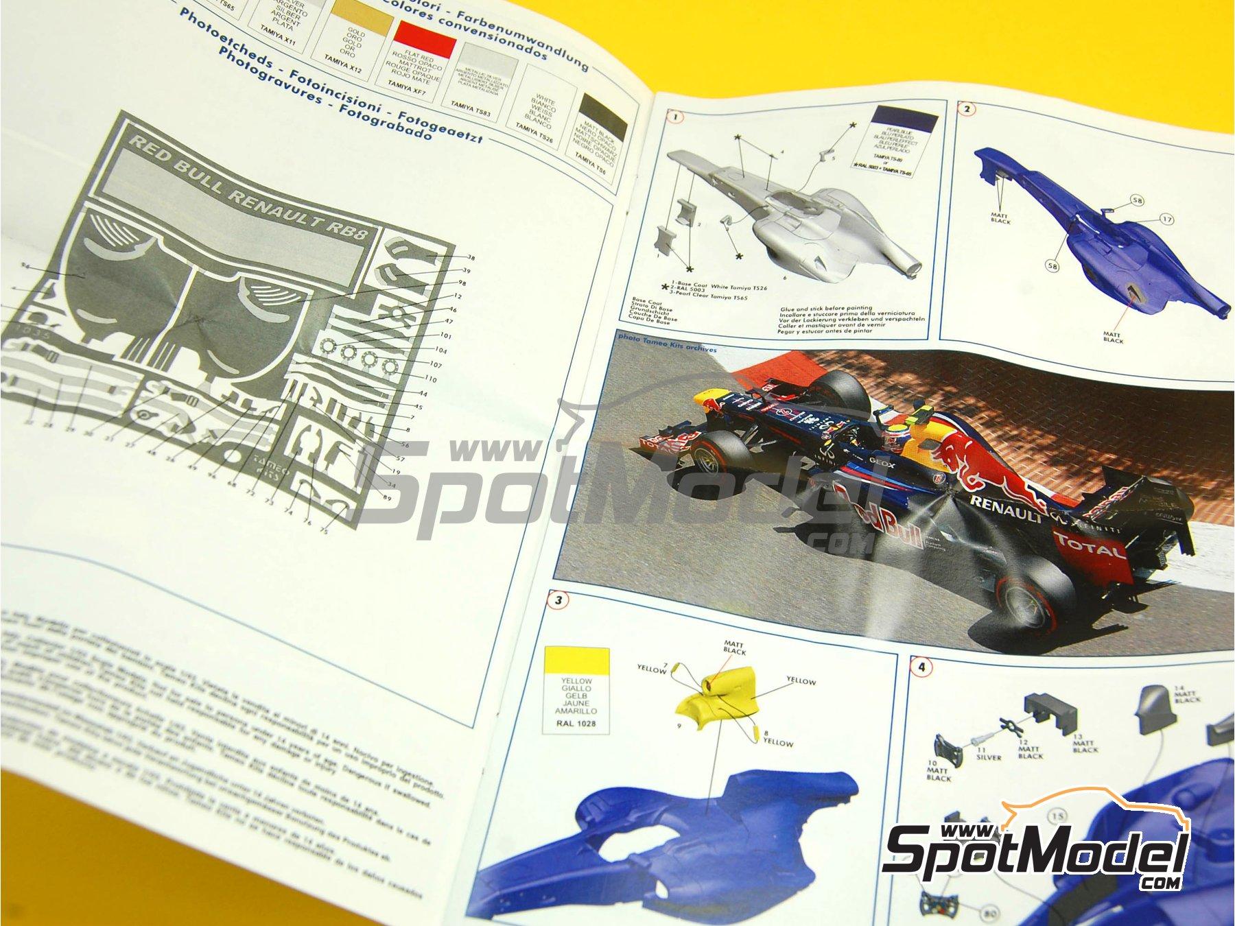 Image 1: RB Racing Renault RB8 - Gran Premio de Formula 1 de Mónaco 2012   Maqueta de coche en escala1/43 fabricado por Tameo Kits (ref.TMK408)
