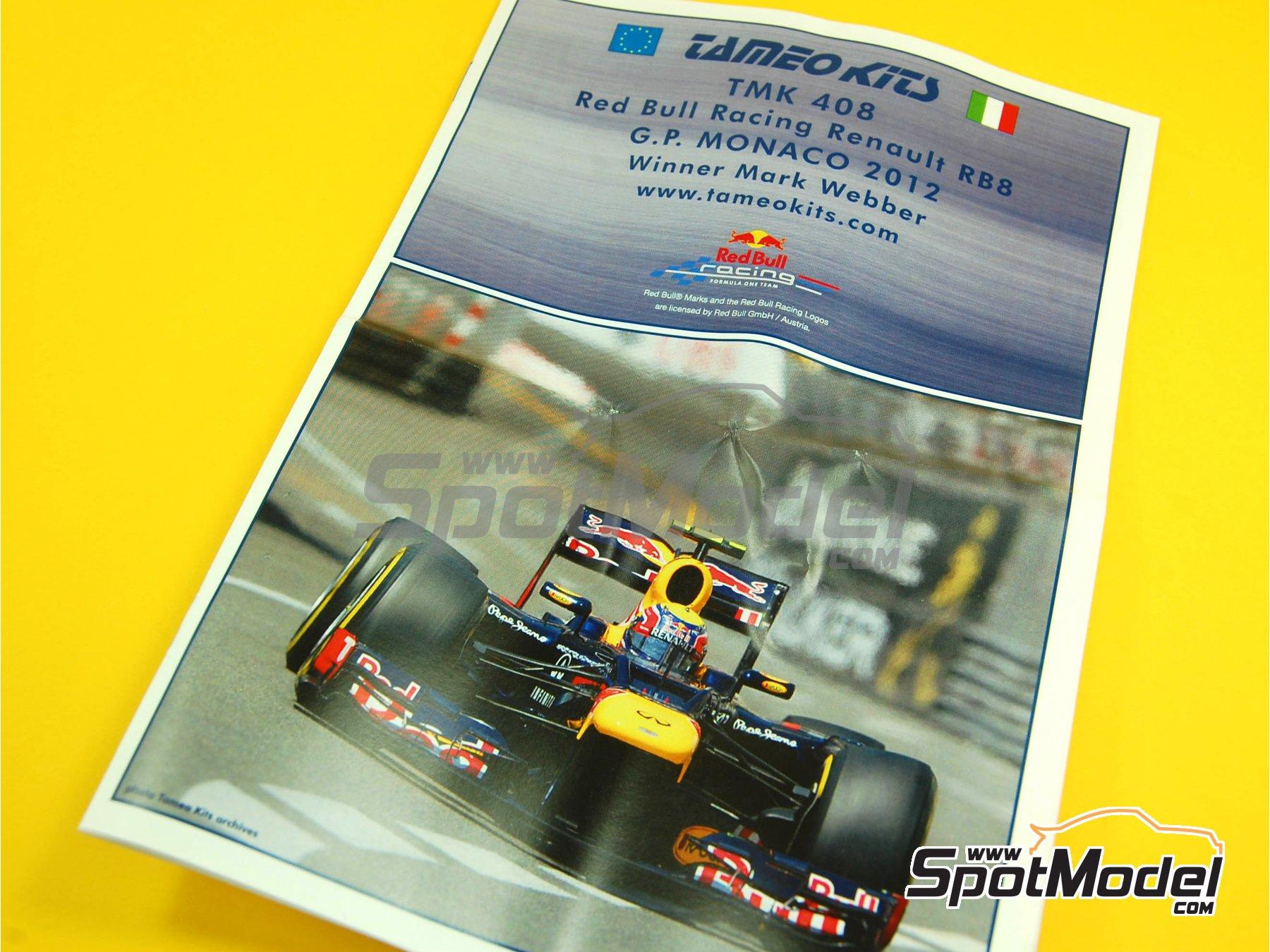 Image 4: RB Racing Renault RB8 - Gran Premio de Formula 1 de Mónaco 2012   Maqueta de coche en escala1/43 fabricado por Tameo Kits (ref.TMK408)