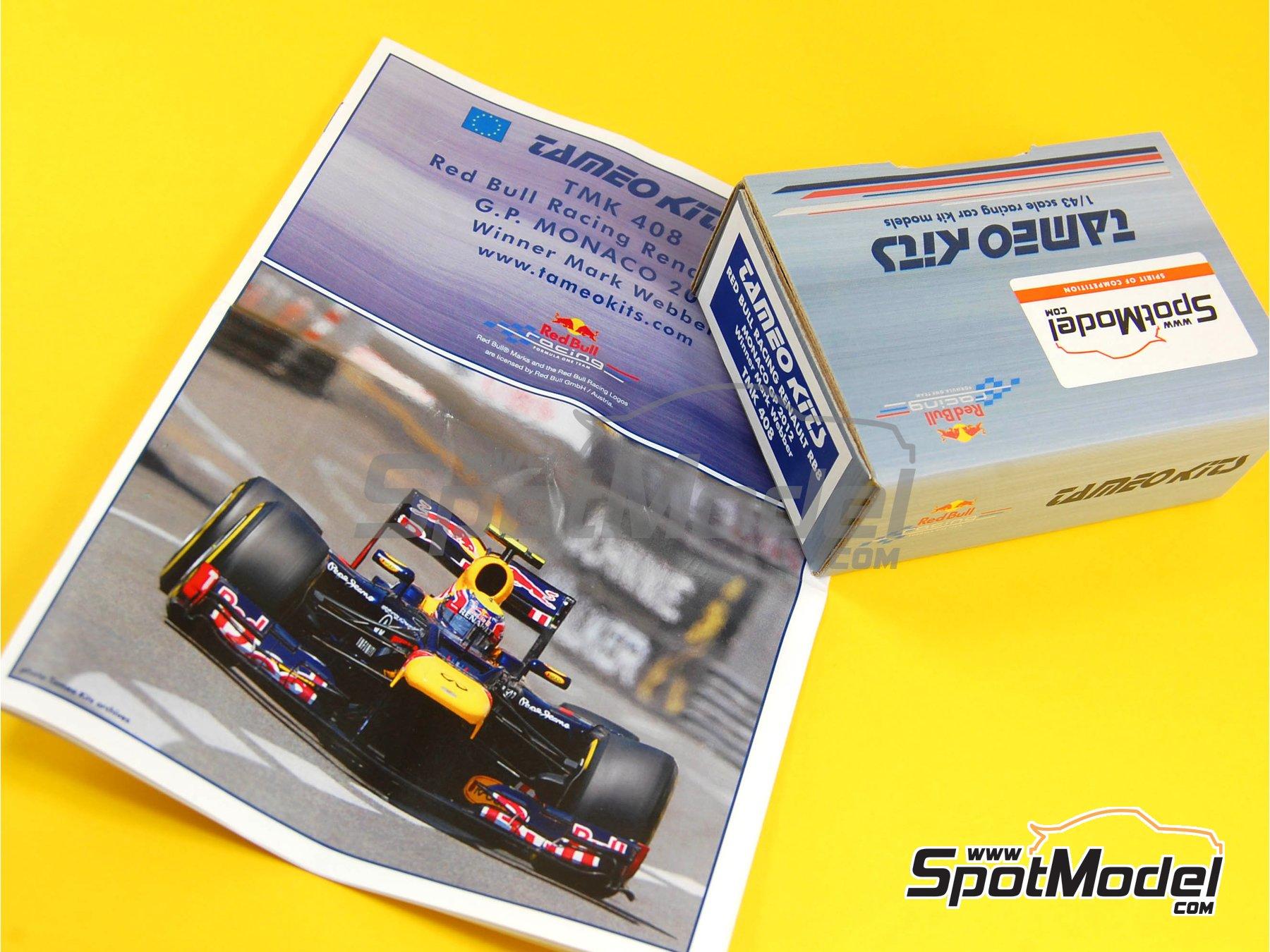 Image 11: RB Racing Renault RB8 - Gran Premio de Formula 1 de Mónaco 2012   Maqueta de coche en escala1/43 fabricado por Tameo Kits (ref.TMK408)