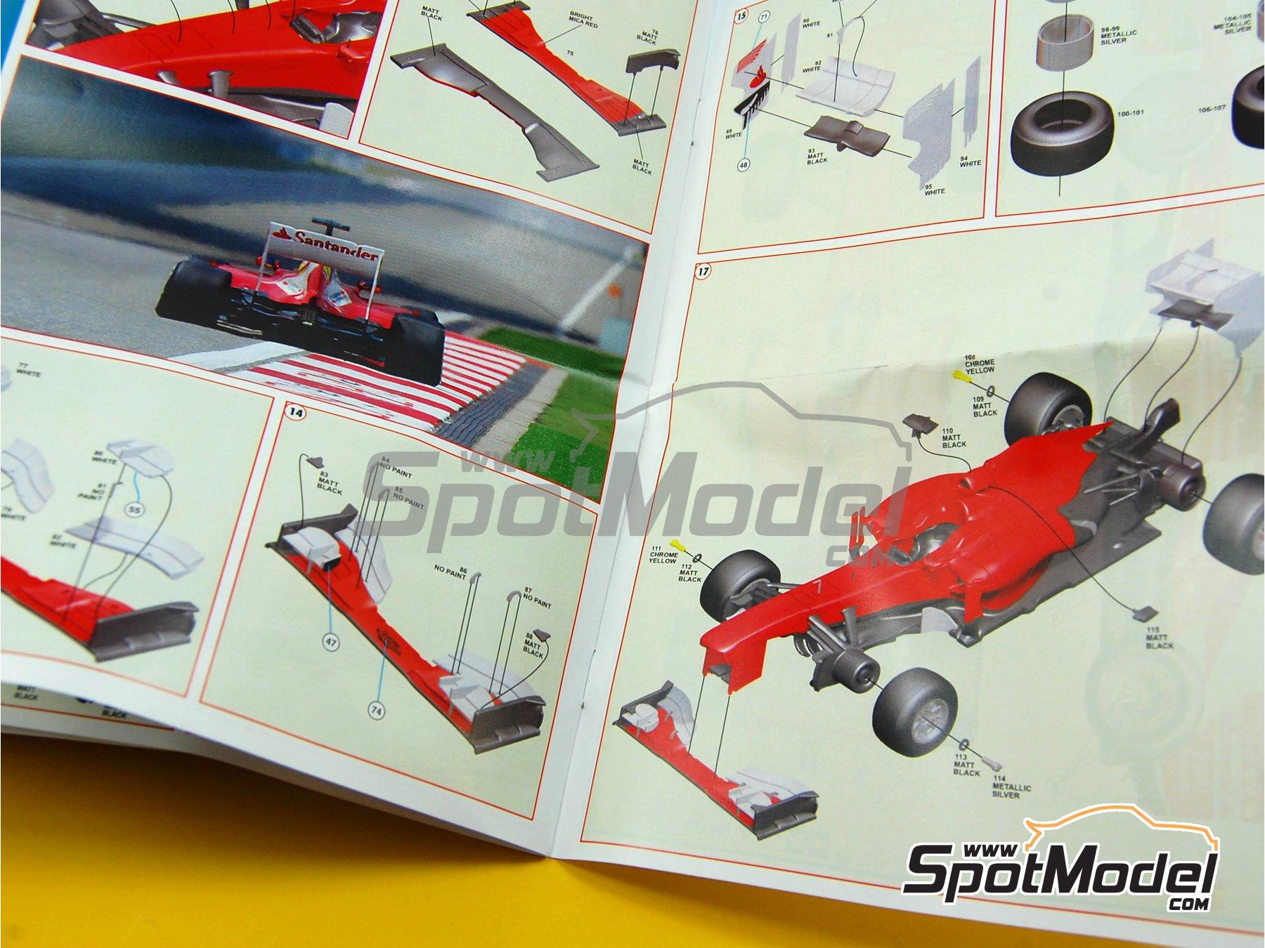 Image 3: Ferrari F138 F2013 Banco Santander - Gran Premio de Fórmula 1 de China 2013   Maqueta de coche en escala1/43 fabricado por Tameo Kits (ref.TMK413)