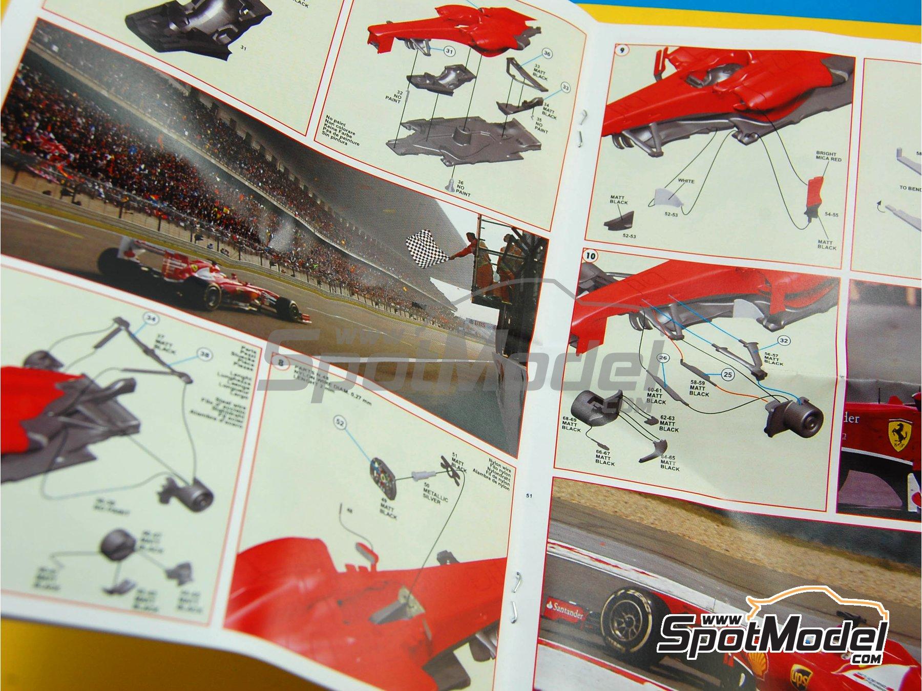 Image 4: Ferrari F138 F2013 Banco Santander - Gran Premio de Fórmula 1 de China 2013   Maqueta de coche en escala1/43 fabricado por Tameo Kits (ref.TMK413)