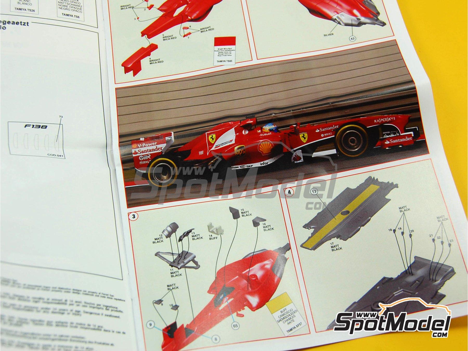 Image 5: Ferrari F138 F2013 Banco Santander - Gran Premio de Fórmula 1 de China 2013   Maqueta de coche en escala1/43 fabricado por Tameo Kits (ref.TMK413)
