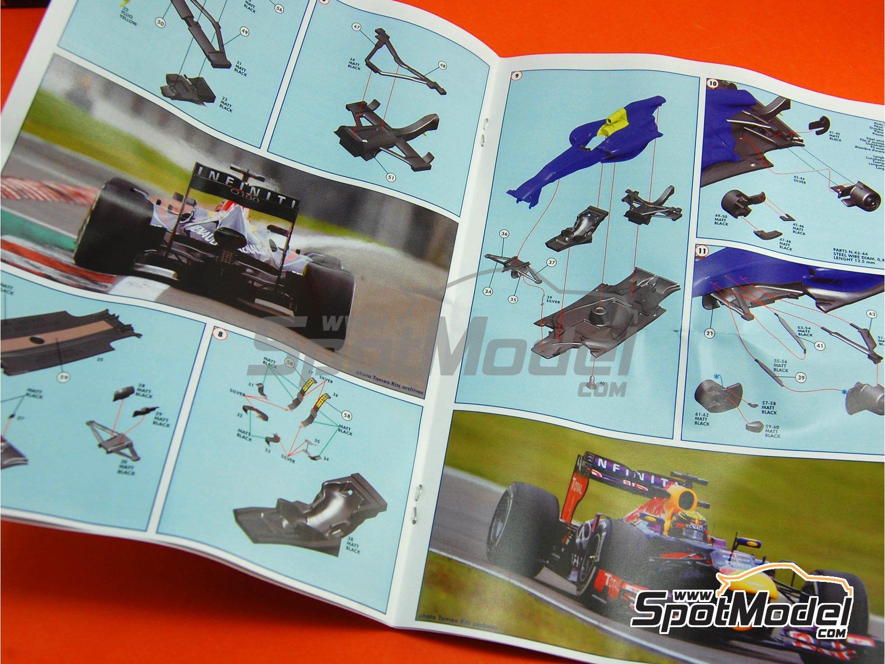 Image 11: RB Racing Renault RB9 Infiniti - Gran Premio de Fórmula 1 de Alemania 2013   Maqueta de coche en escala1/43 fabricado por Tameo Kits (ref.TMK415)