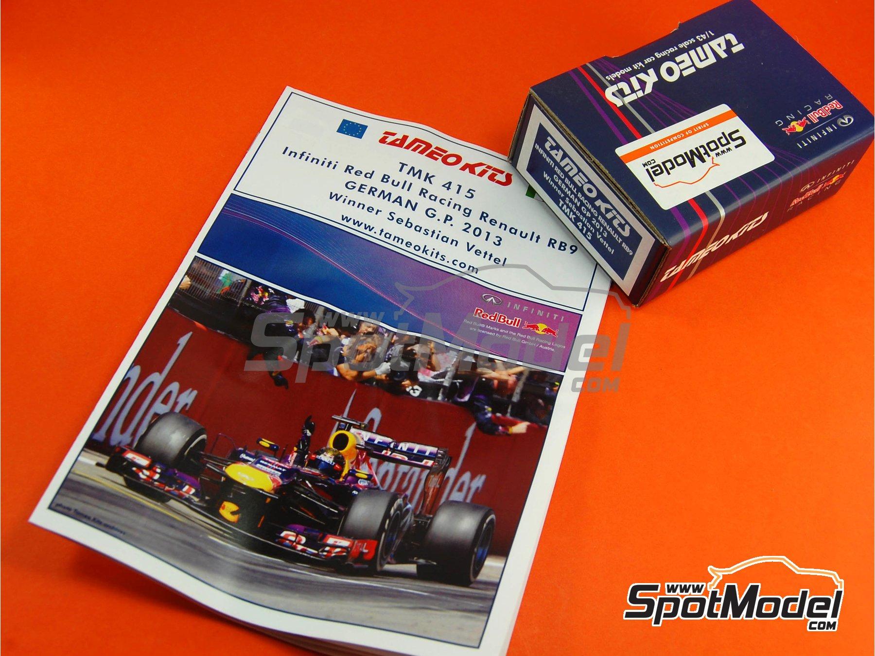 Image 14: RB Racing Renault RB9 Infiniti - Gran Premio de Fórmula 1 de Alemania 2013   Maqueta de coche en escala1/43 fabricado por Tameo Kits (ref.TMK415)
