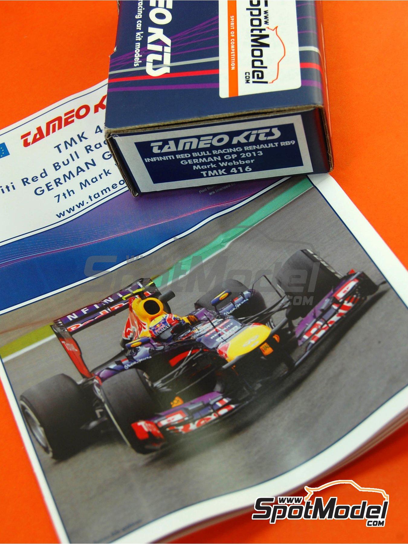 RB Racing Renault RB9 Infiniti - German Formula 1 Grand Prix 2013 | Model car kit in 1/43 scale manufactured by Tameo Kits (ref.TMK416) image