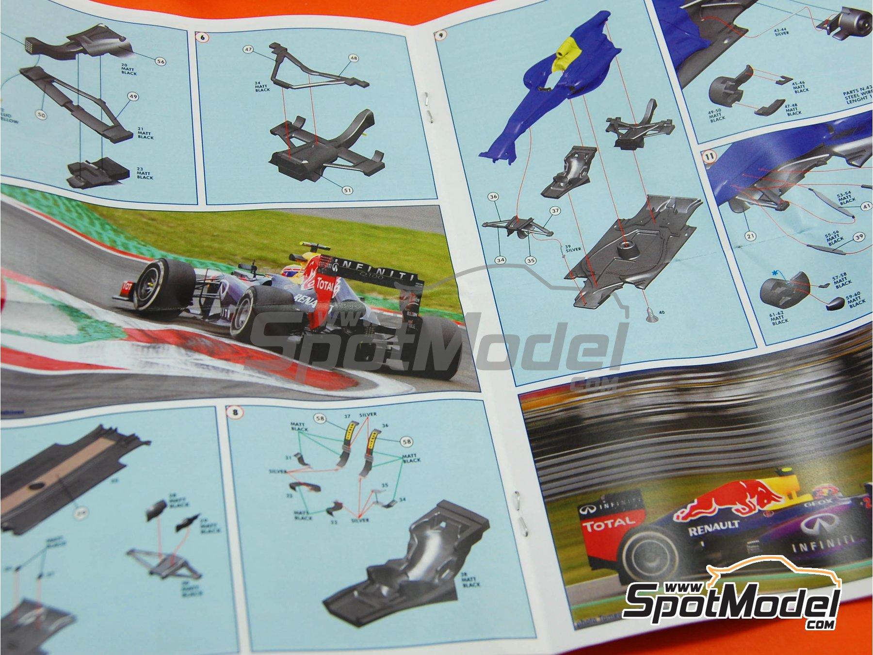 Image 10: RB Racing Renault RB9 Infiniti - German Formula 1 Grand Prix 2013 | Model car kit in 1/43 scale manufactured by Tameo Kits (ref.TMK416)