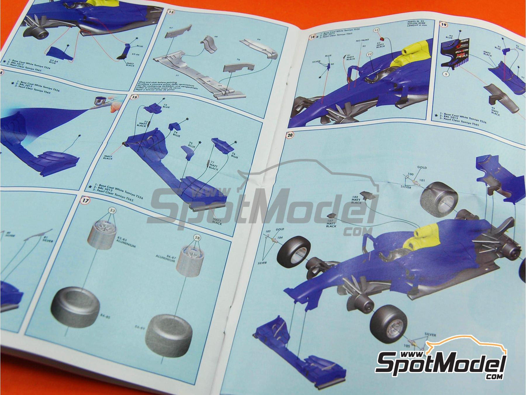 Image 11: RB Racing Renault RB9 Infiniti - German Formula 1 Grand Prix 2013 | Model car kit in 1/43 scale manufactured by Tameo Kits (ref.TMK416)
