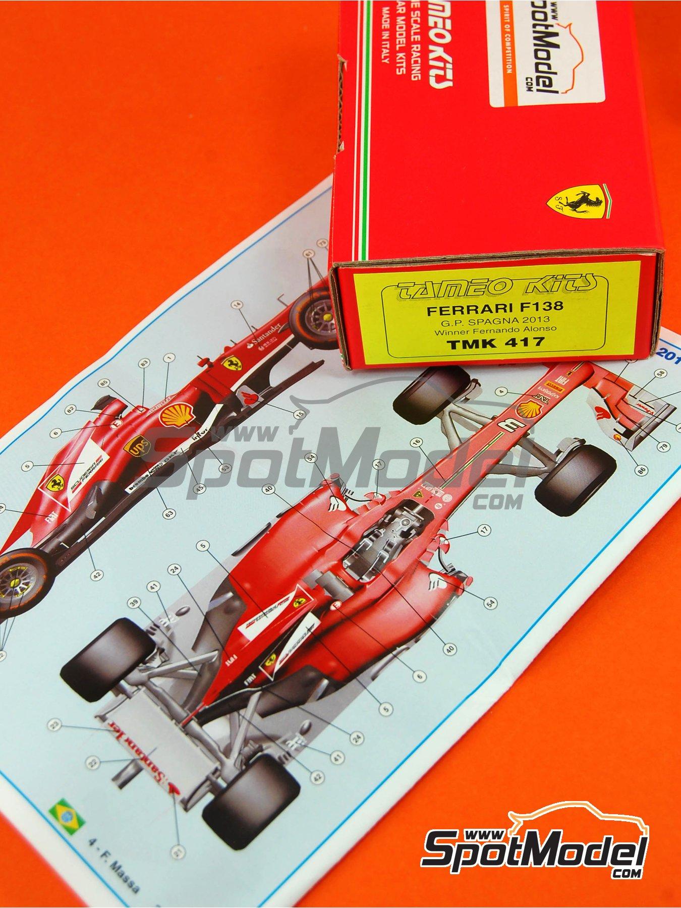 Ferrari F138 F2013 Banco Santander - Gran Premio de Fórmula 1 de España 2013 | Maqueta de coche en escala1/43 fabricado por Tameo Kits (ref.TMK417) image