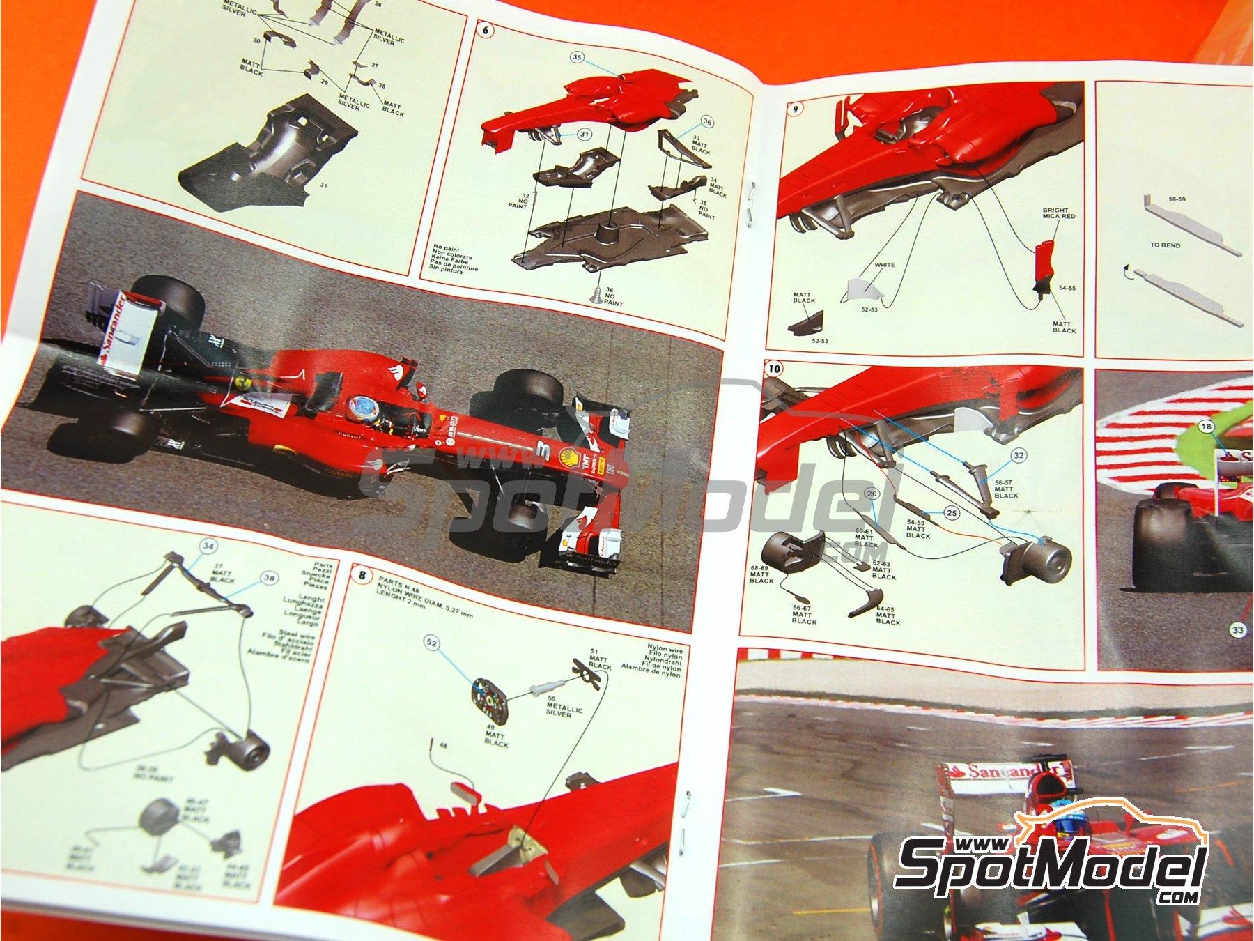 Image 2: Ferrari F138 F2013 Banco Santander - Gran Premio de Fórmula 1 de España 2013 | Maqueta de coche en escala1/43 fabricado por Tameo Kits (ref.TMK417)