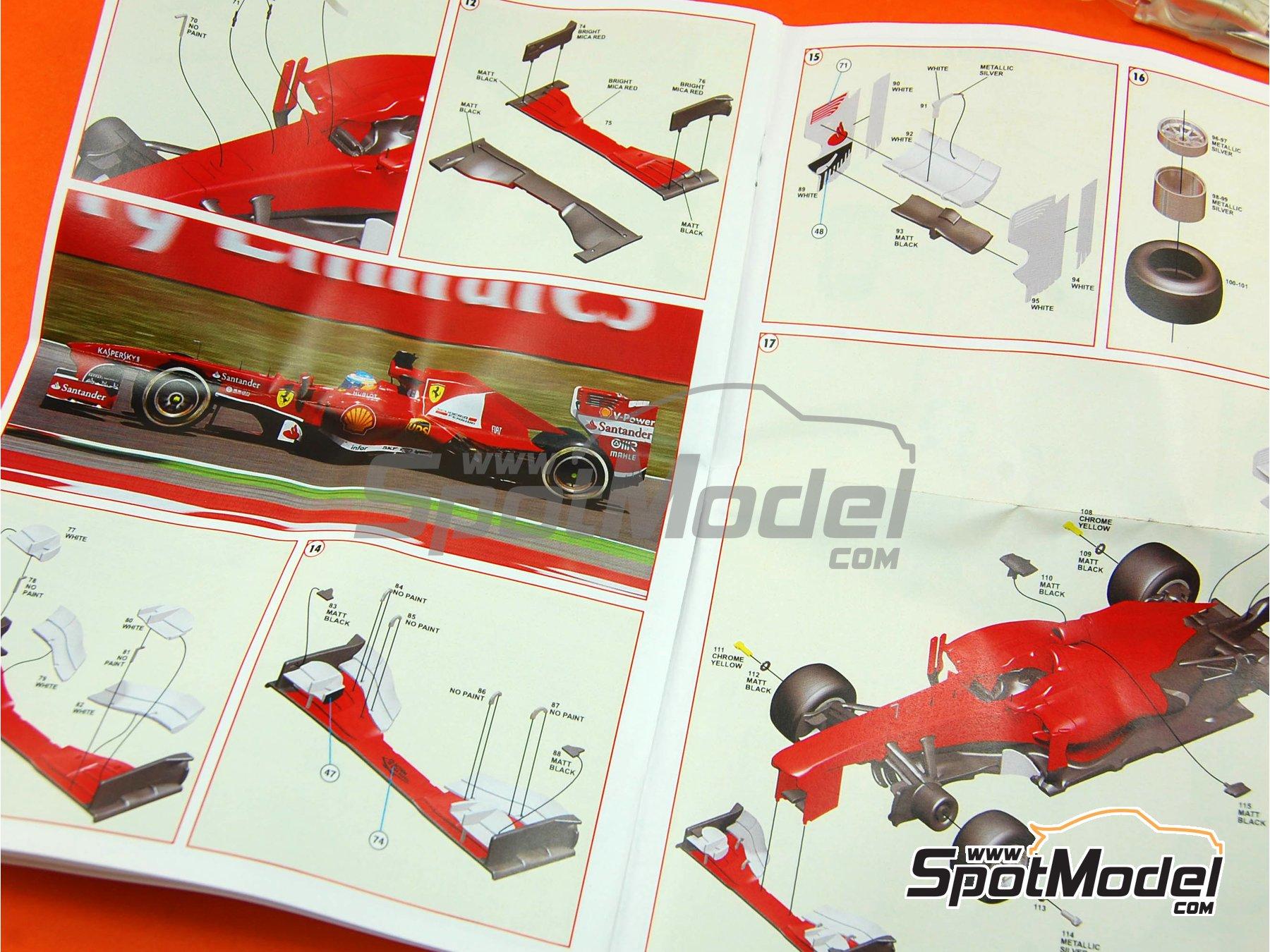 Image 3: Ferrari F138 F2013 Banco Santander - Gran Premio de Fórmula 1 de España 2013 | Maqueta de coche en escala1/43 fabricado por Tameo Kits (ref.TMK417)