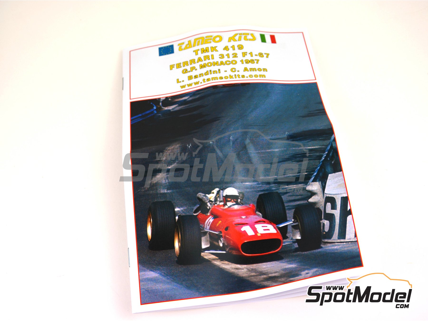 Image 7: Ferrari F1-67 - Monaco Grand Prix 1967 | Model car kit in 1/43 scale manufactured by Tameo Kits (ref. TMK419)